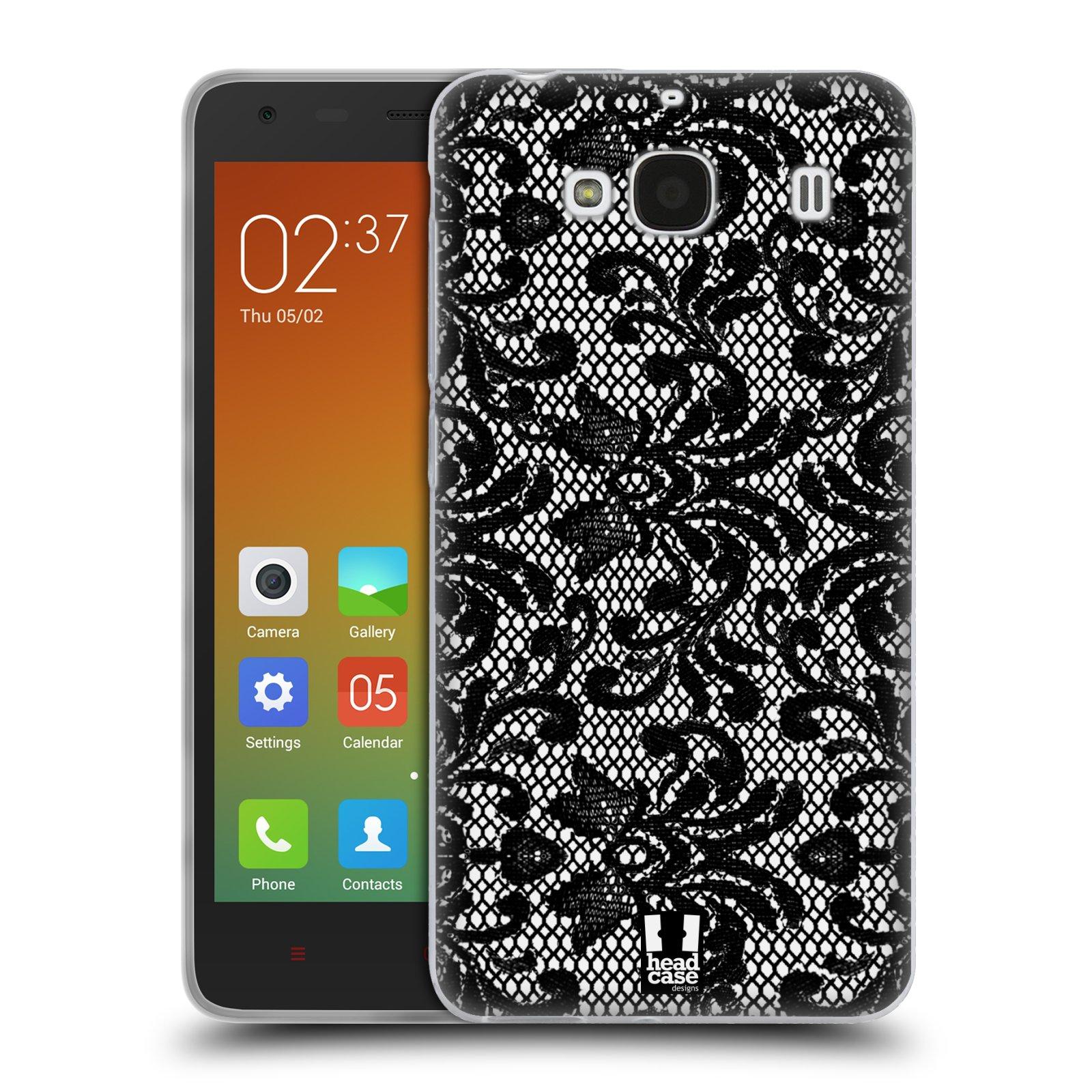 Silikonové pouzdro na mobil Xiaomi Redmi 2 HEAD CASE KRAJKA (Silikonový kryt či obal na mobilní telefon Xiaomi Redmi 2)