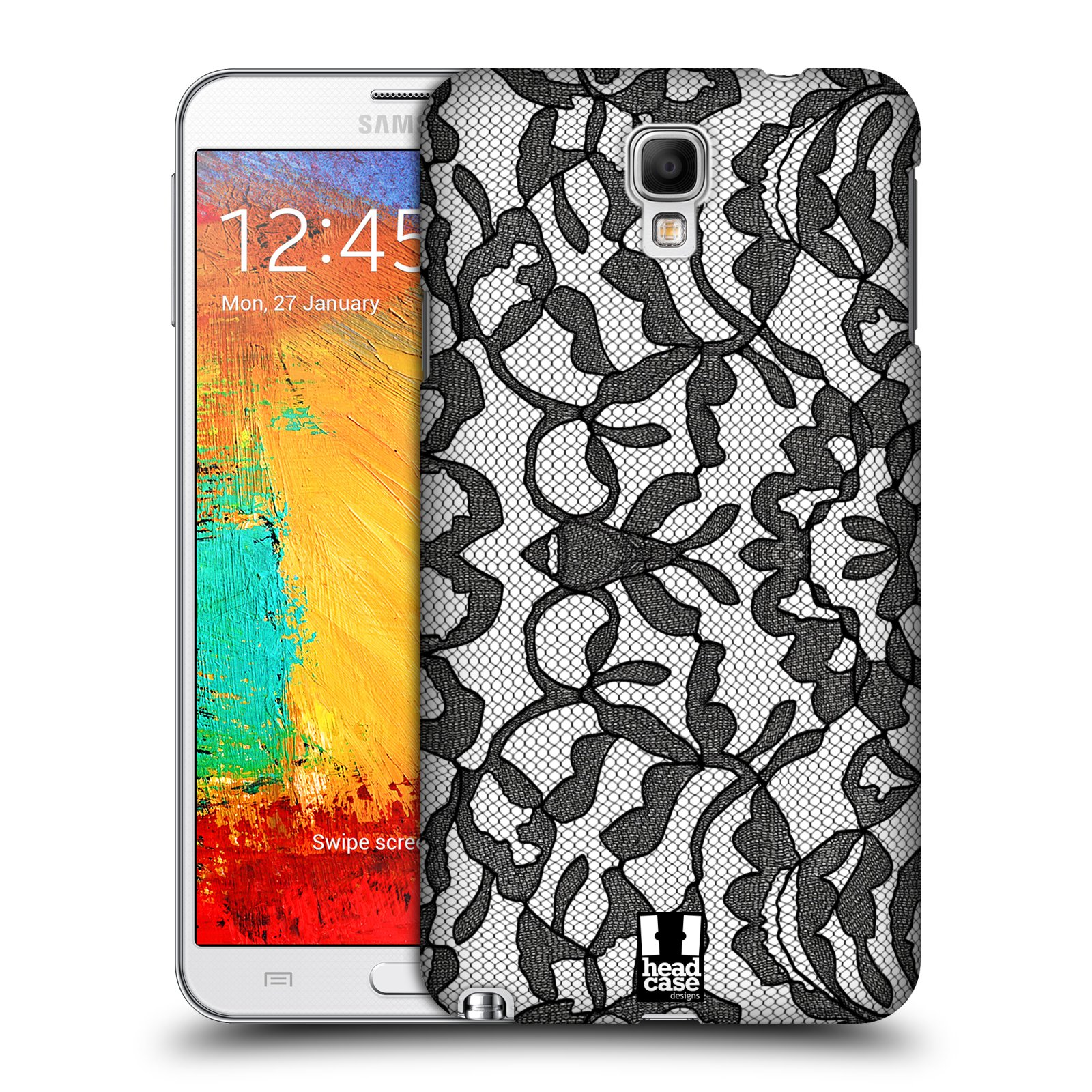 Plastové pouzdro na mobil Samsung Galaxy Note 3 Neo HEAD CASE LEAFY KRAJKA (Kryt či obal na mobilní telefon Samsung Galaxy Note 3 Neo SM-N7505)