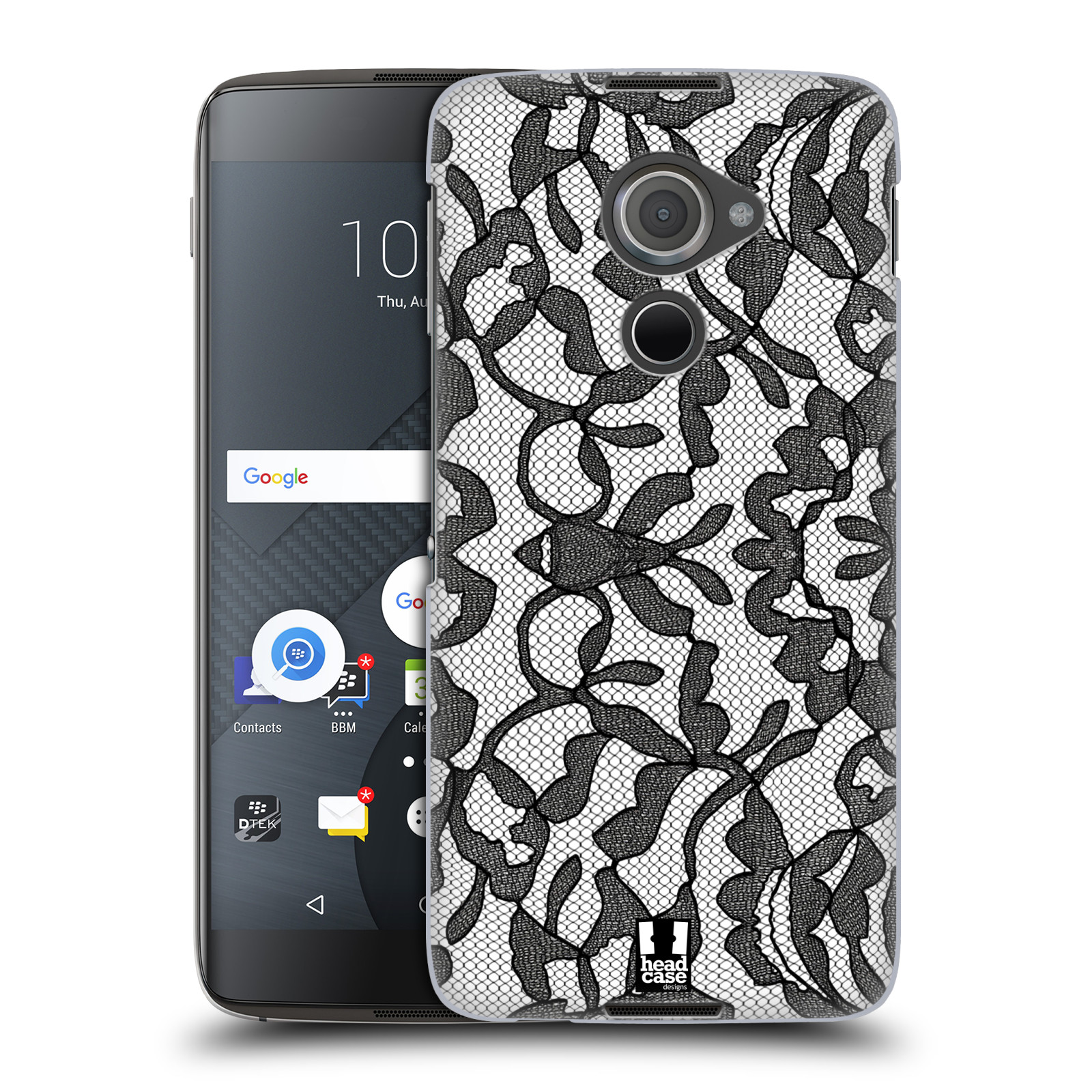 Plastové pouzdro na mobil Blackberry DTEK60 (Argon) - Head Case LEAFY KRAJKA