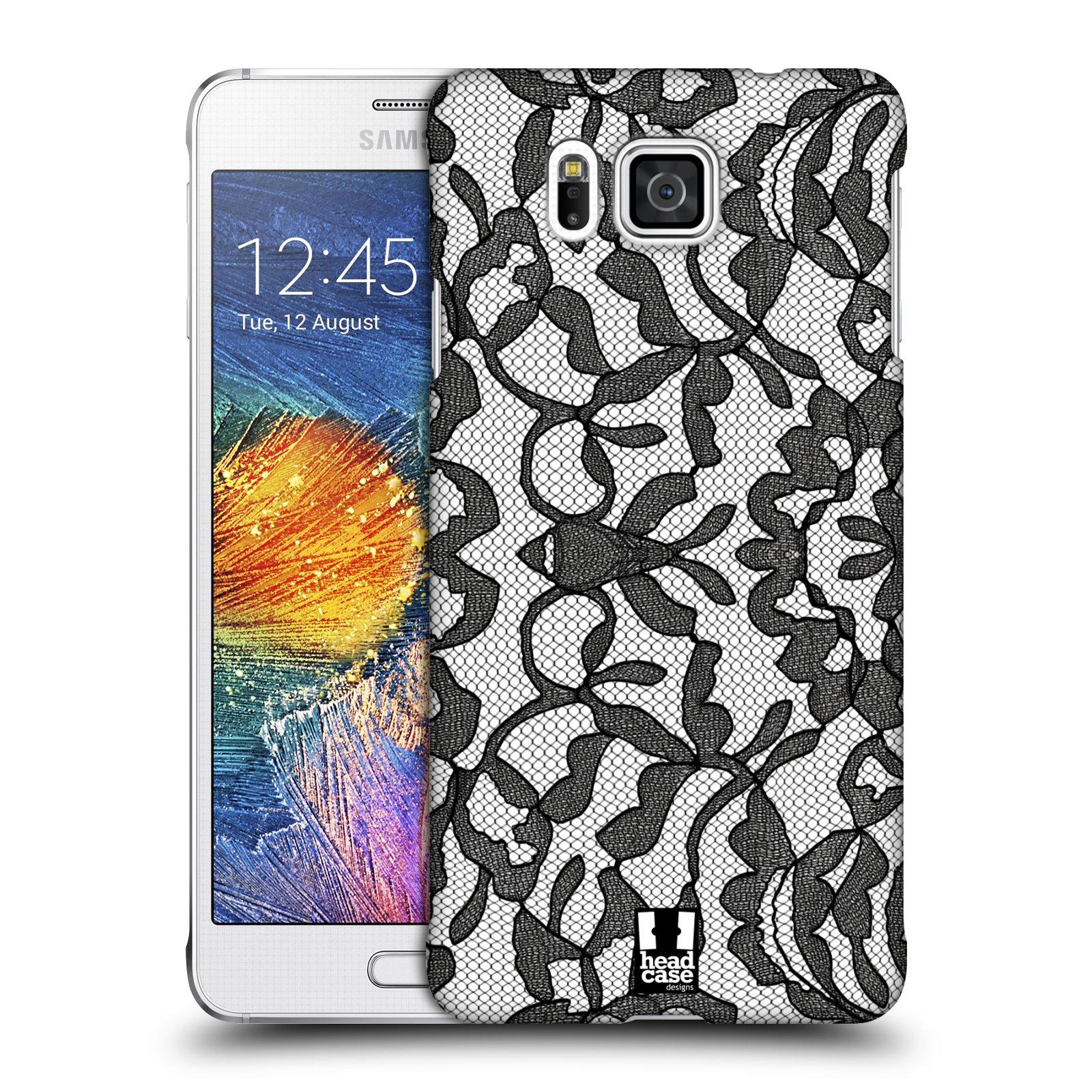 Plastové pouzdro na mobil Samsung Galaxy Alpha HEAD CASE LEAFY KRAJKA