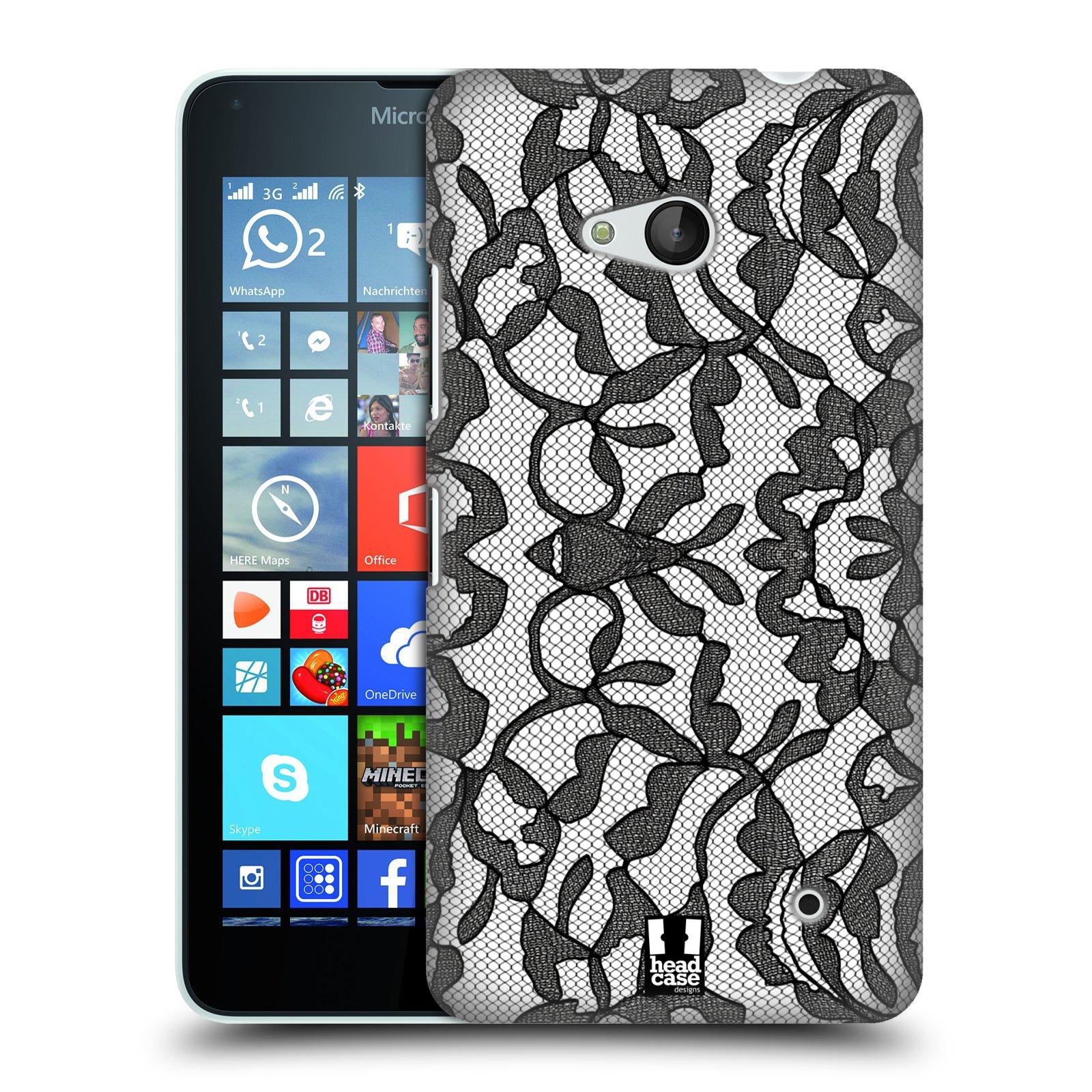 Plastové pouzdro na mobil Microsoft Lumia 640 HEAD CASE LEAFY KRAJKA