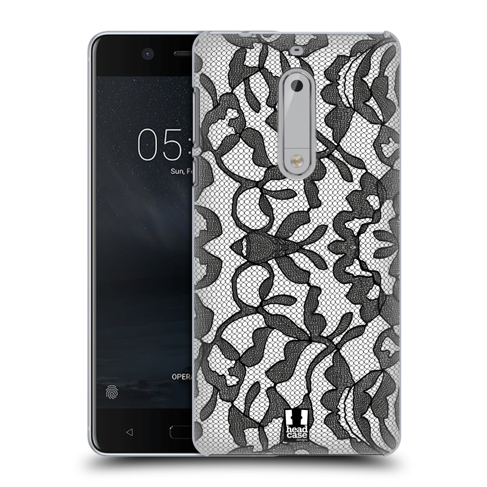 Plastové pouzdro na mobil Nokia 5 Head Case - LEAFY KRAJKA