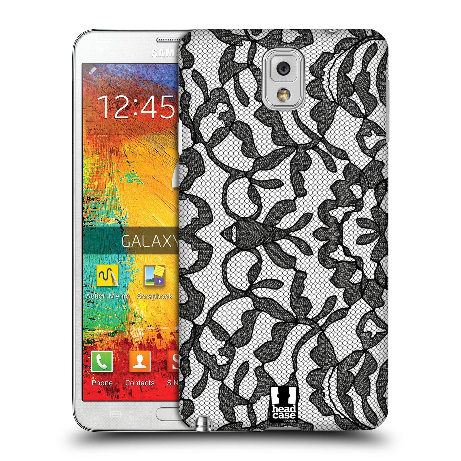 Plastové pouzdro na mobil Samsung Galaxy Note 3 HEAD CASE LEAFY KRAJKA (Kryt či obal na mobilní telefon Samsung Galaxy Note 3 SM-N9005)