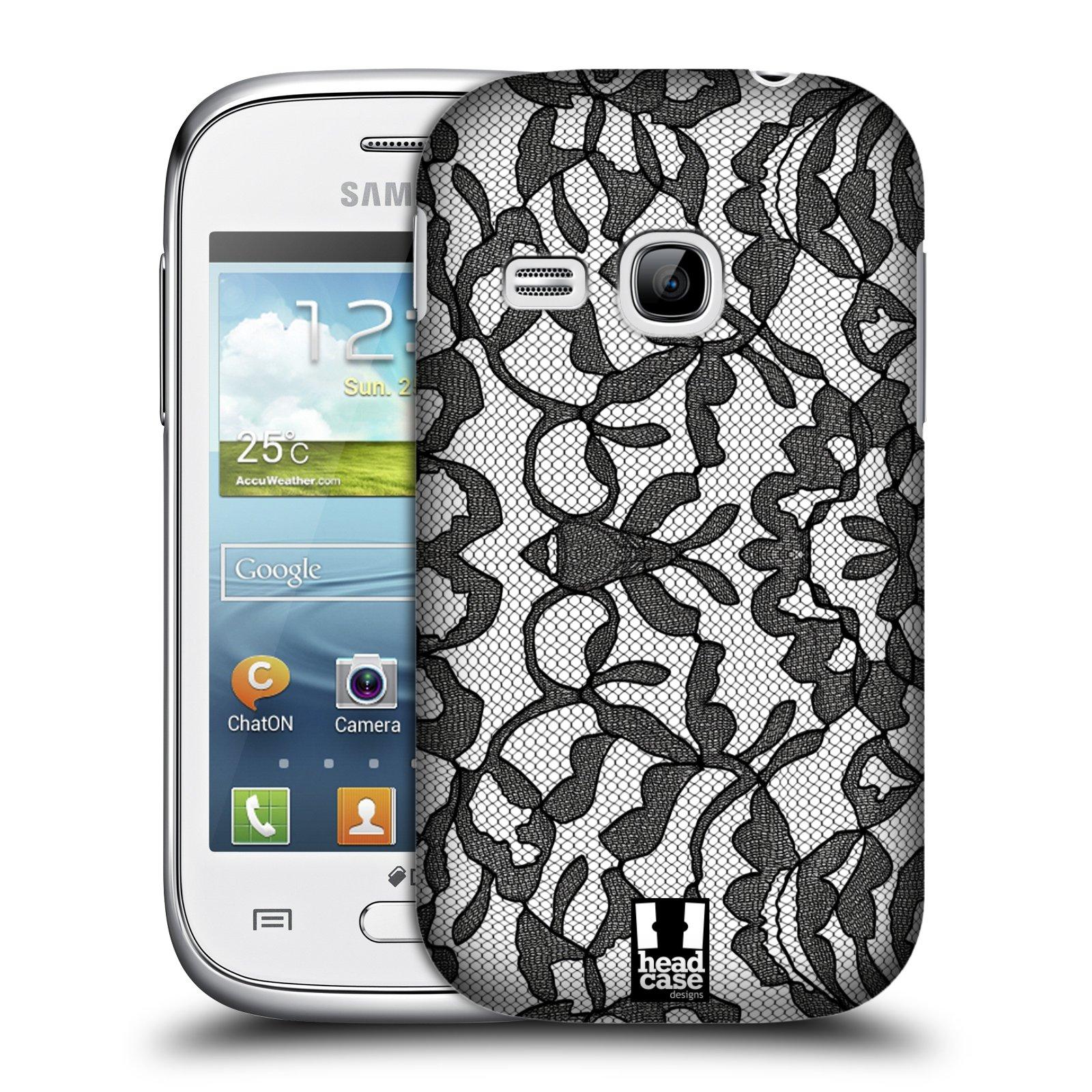 Plastové pouzdro na mobil Samsung Galaxy Young HEAD CASE LEAFY KRAJKA (Kryt či obal na mobilní telefon Samsung Galaxy Young GT-S6310)