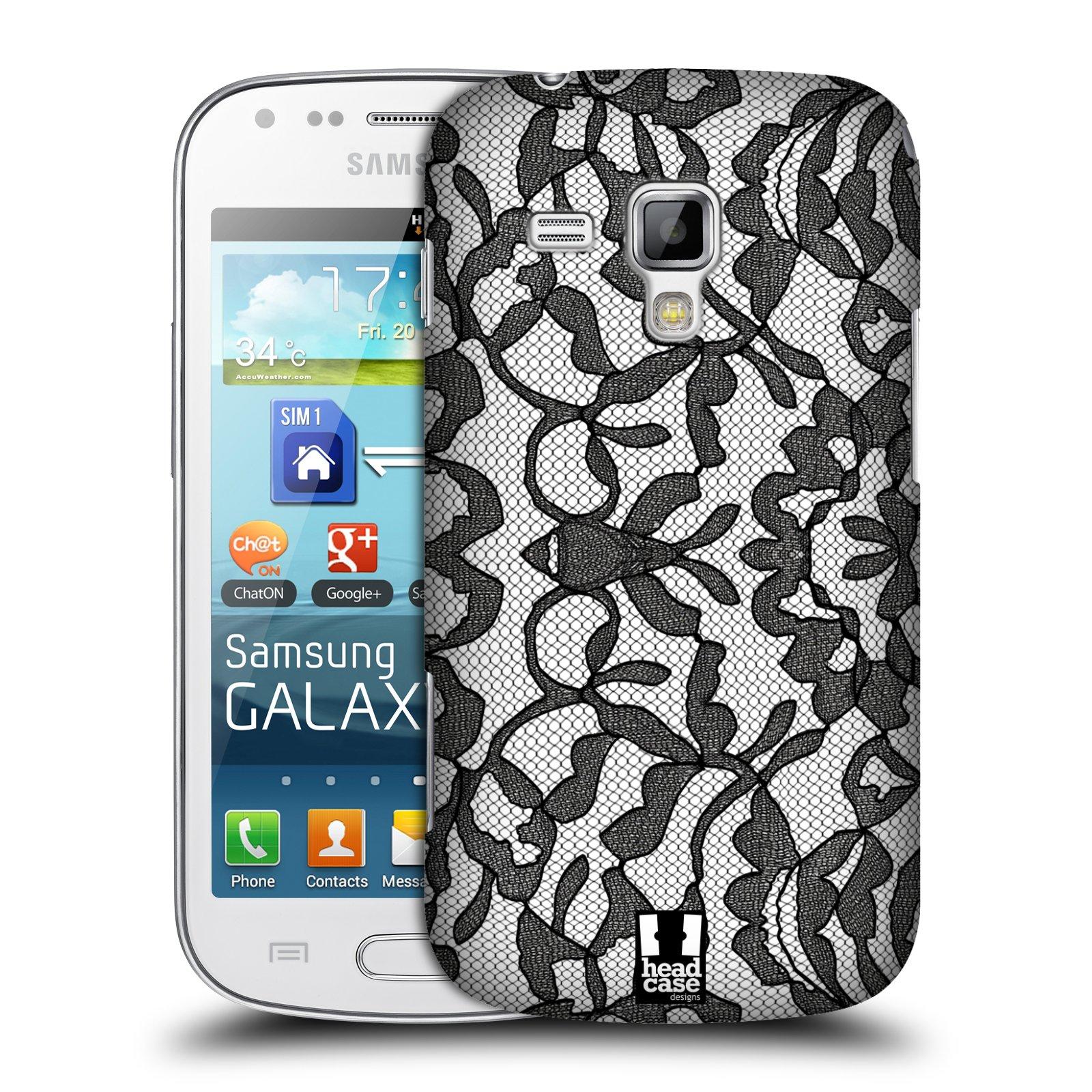 Plastové pouzdro na mobil Samsung Galaxy Trend Plus HEAD CASE LEAFY KRAJKA