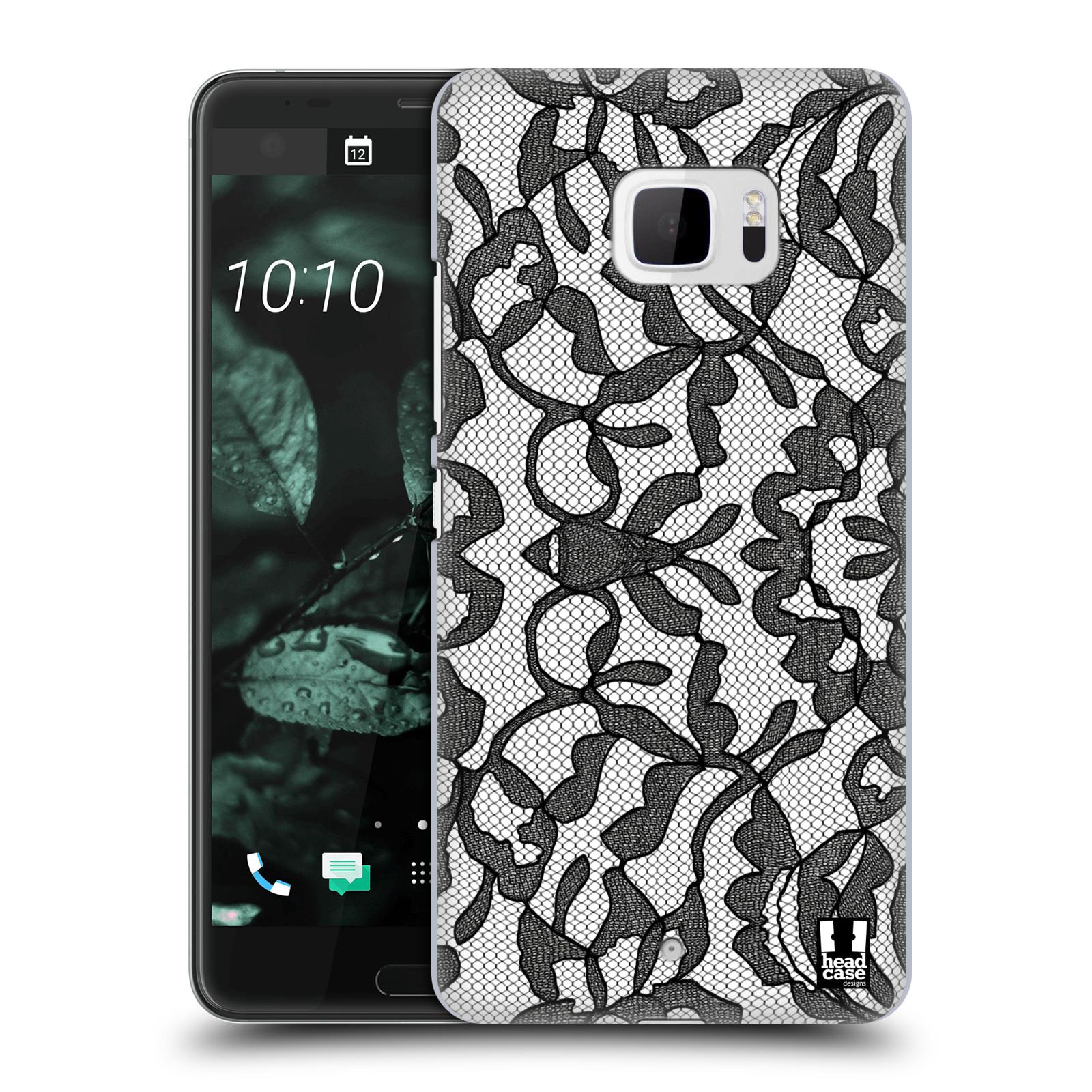 Plastové pouzdro na mobil HTC U Ultra Head Case - LEAFY KRAJKA