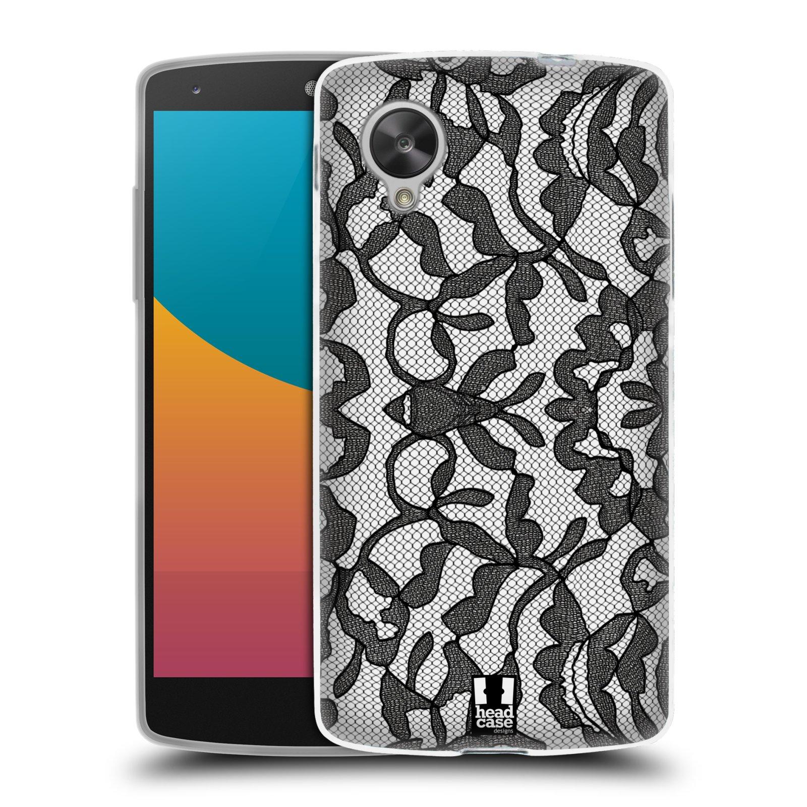 Silikonové pouzdro na mobil LG Nexus 5 HEAD CASE LEAFY KRAJKA (Silikonový kryt či obal na mobilní telefon LG Google Nexus 5 D821)