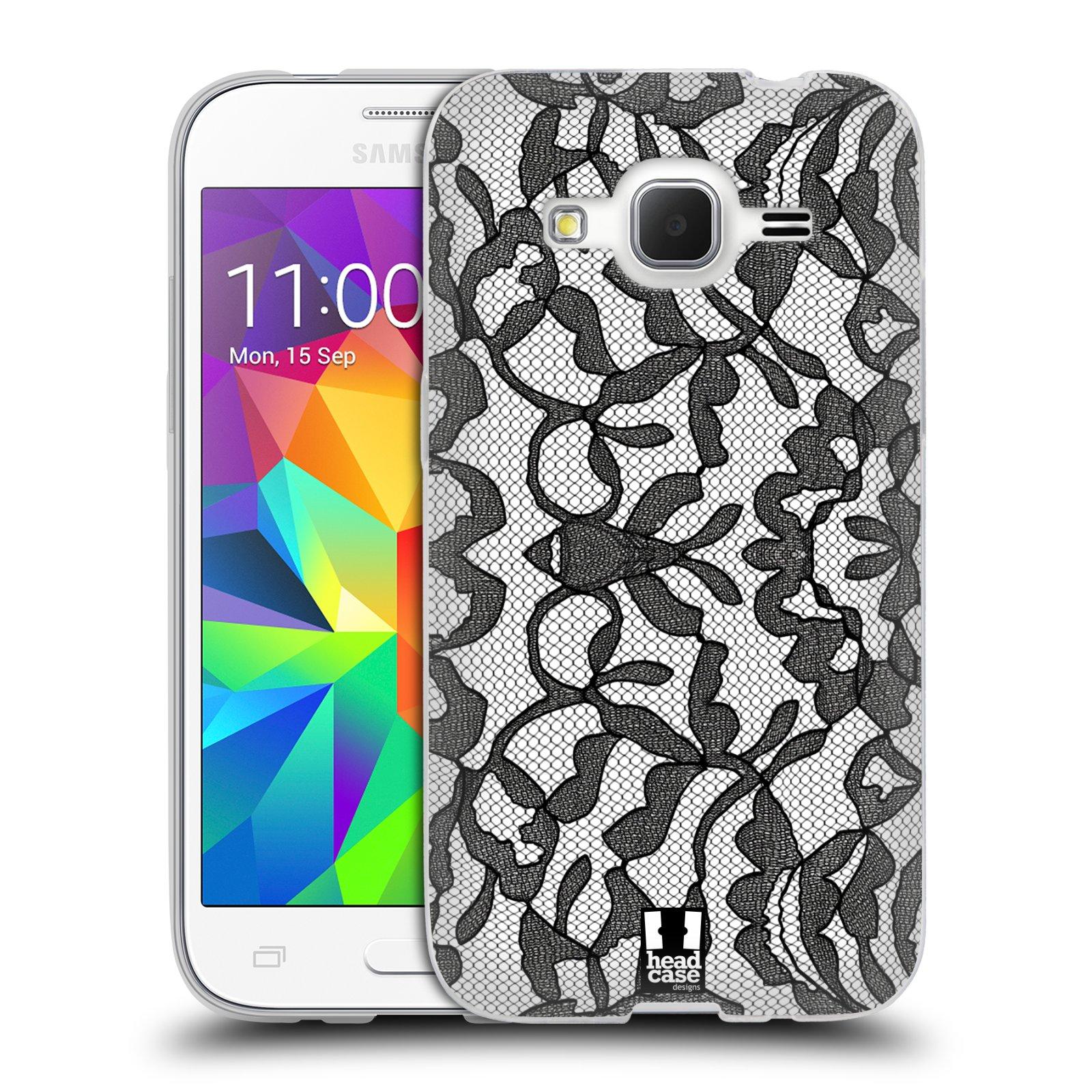 Silikonové pouzdro na mobil Samsung Galaxy Core Prime LTE HEAD CASE LEAFY KRAJKA (Silikonový kryt či obal na mobilní telefon Samsung Galaxy Core Prime LTE SM-G360)