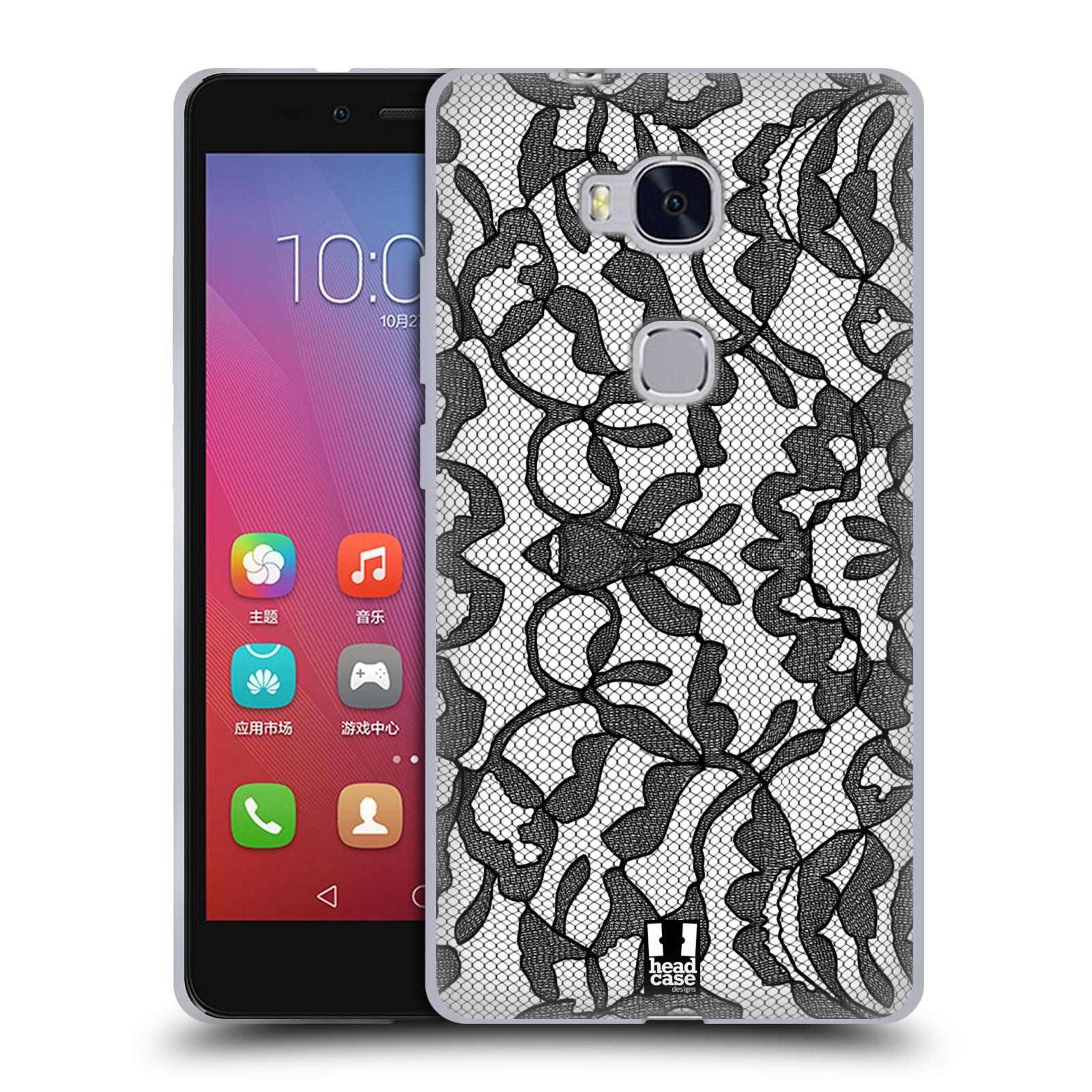 Silikonové pouzdro na mobil Honor 5X HEAD CASE LEAFY KRAJKA (Silikonový kryt či obal na mobilní telefon Huawei Honor 5X)