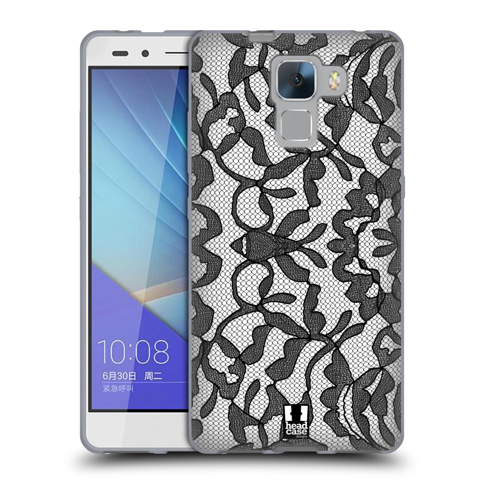Silikonové pouzdro na mobil Honor 7 HEAD CASE LEAFY KRAJKA (Silikonový kryt či obal na mobilní telefon Huawei Honor 7)