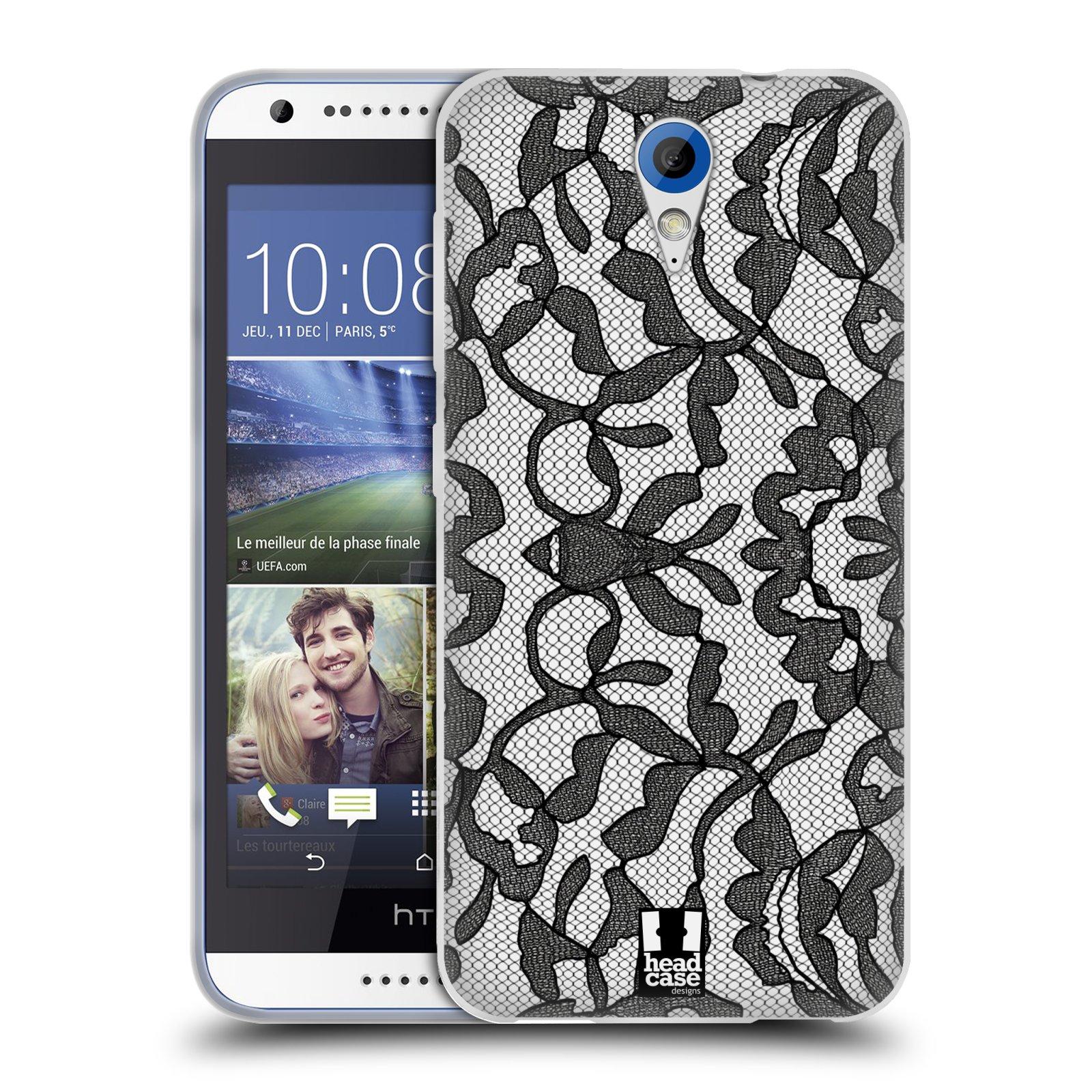 Silikonové pouzdro na mobil HTC Desire 620 HEAD CASE LEAFY KRAJKA (Silikonový kryt či obal na mobilní telefon HTC Desire 620)