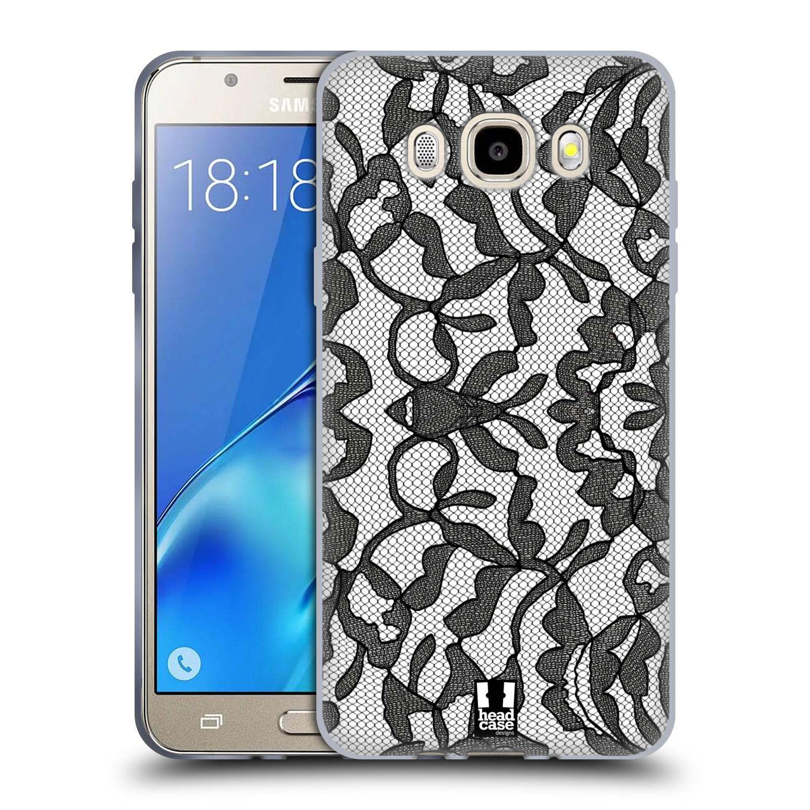 Silikonové pouzdro na mobil Samsung Galaxy J5 (2016) HEAD CASE LEAFY KRAJKA (Silikonový kryt či obal na mobilní telefon Samsung Galaxy J5 (2016) SM-J510)