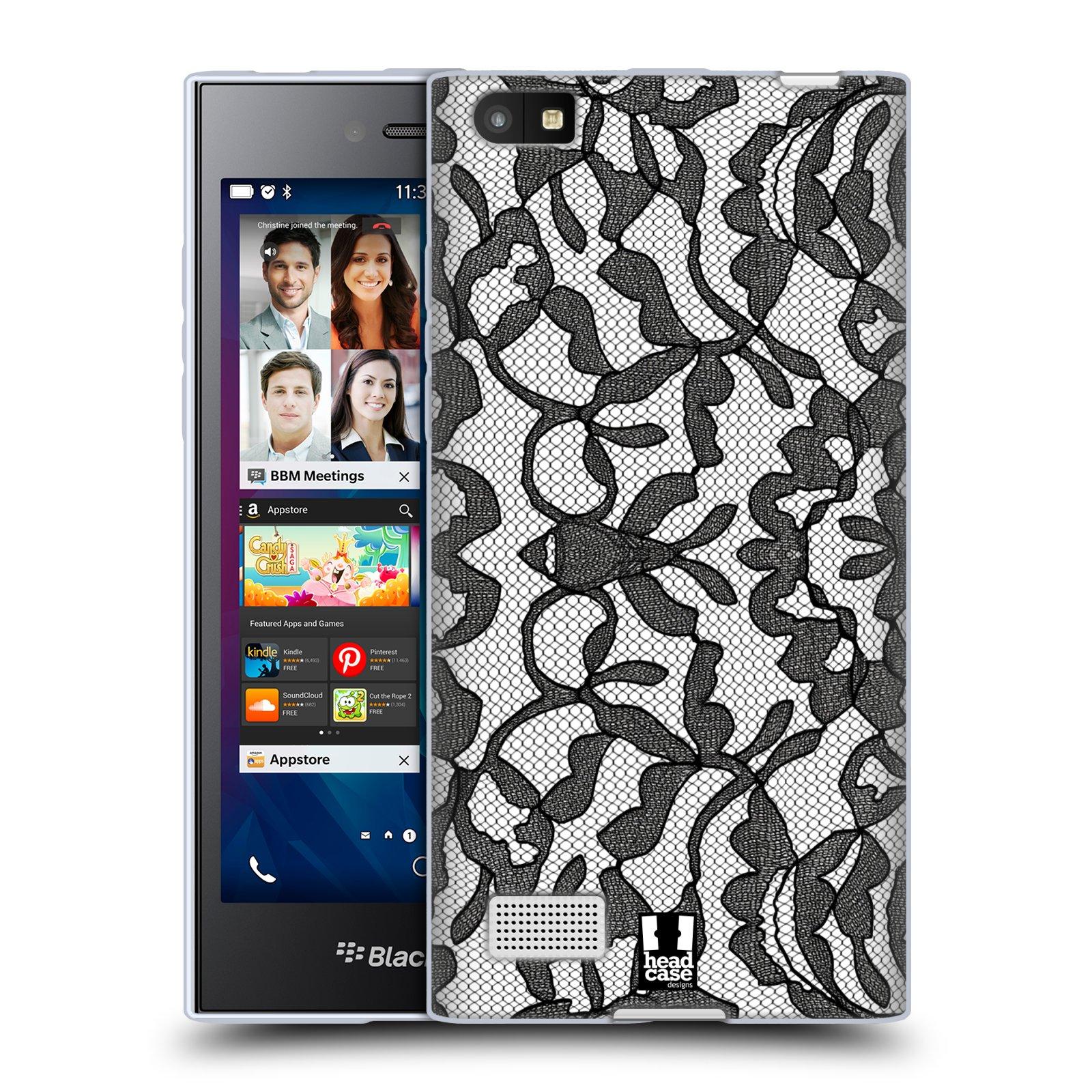 Silikonové pouzdro na mobil Blackberry Leap HEAD CASE LEAFY KRAJKA (Silikonový kryt či obal na mobilní telefon Blackberry Leap)