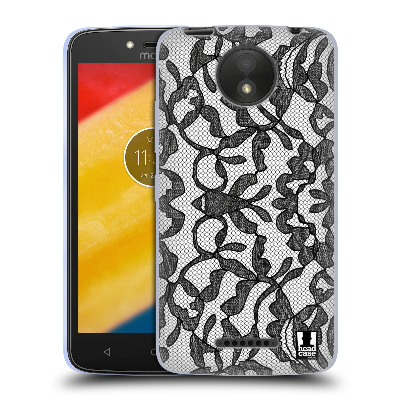 Silikonové pouzdro na mobil Lenovo Moto C Plus - Head Case - LEAFY KRAJKA