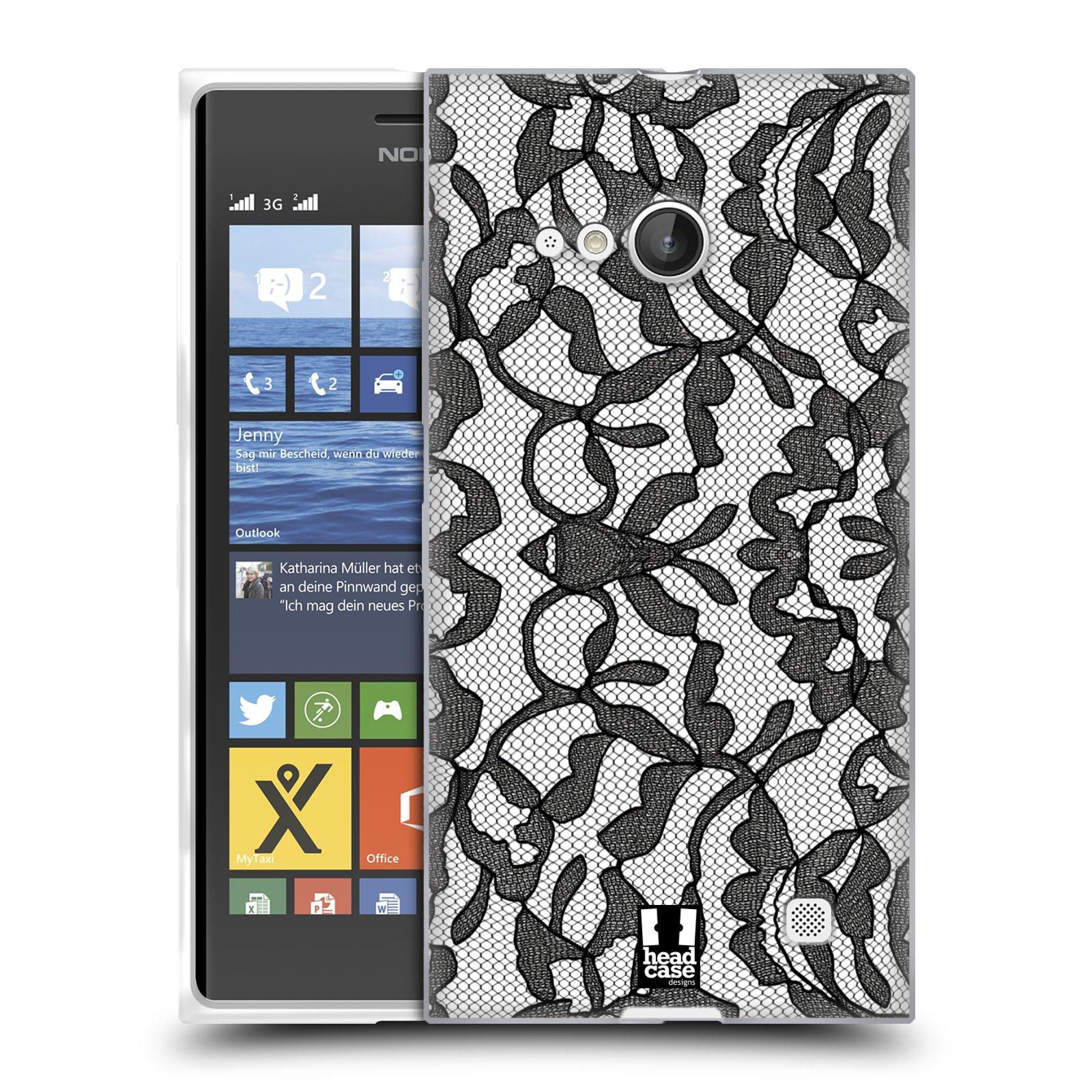 Silikonové pouzdro na mobil Nokia Lumia 730 Dual SIM HEAD CASE LEAFY KRAJKA (Silikonový kryt či obal na mobilní telefon Nokia Lumia 730 Dual SIM)
