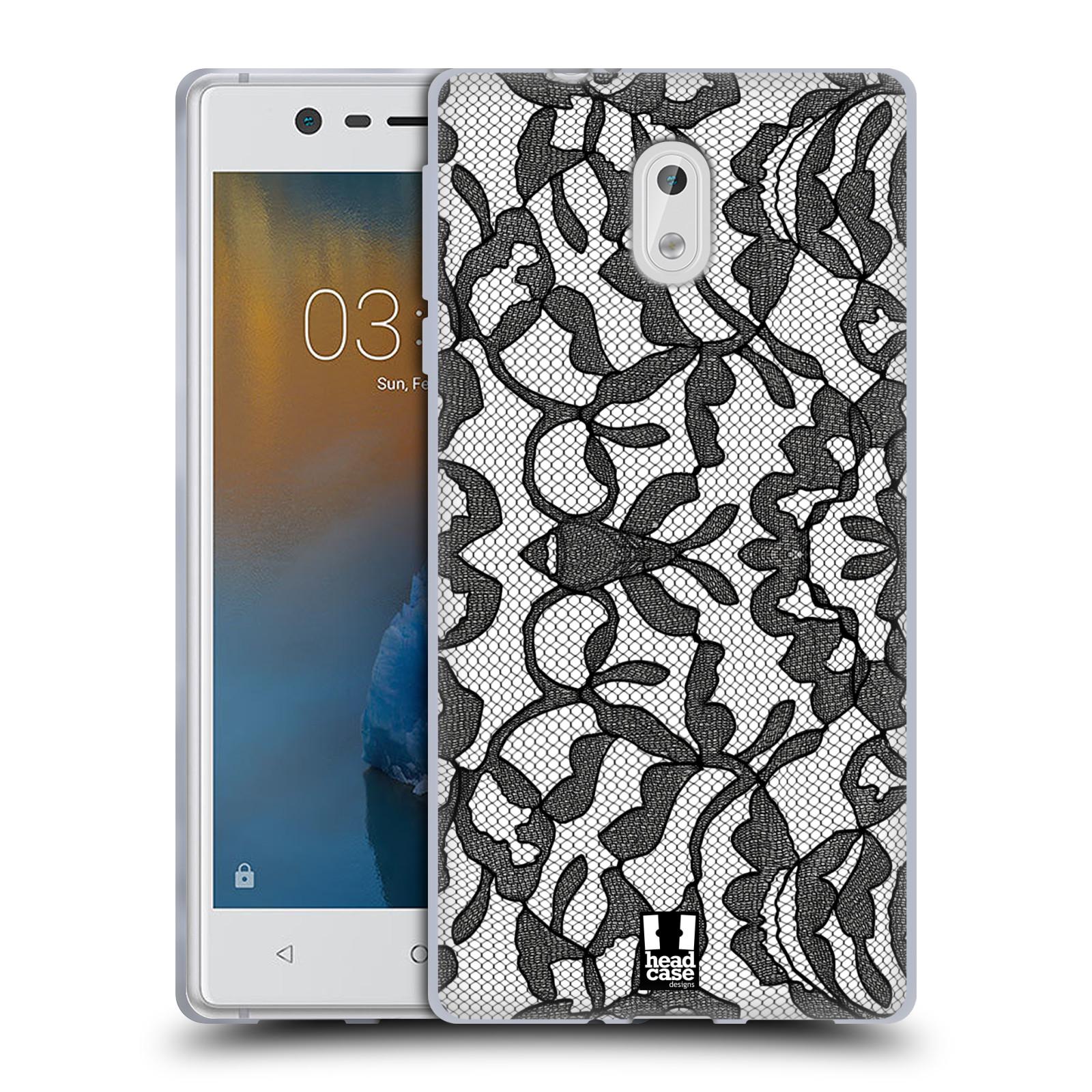 Silikonové pouzdro na mobil Nokia 3 Head Case - LEAFY KRAJKA