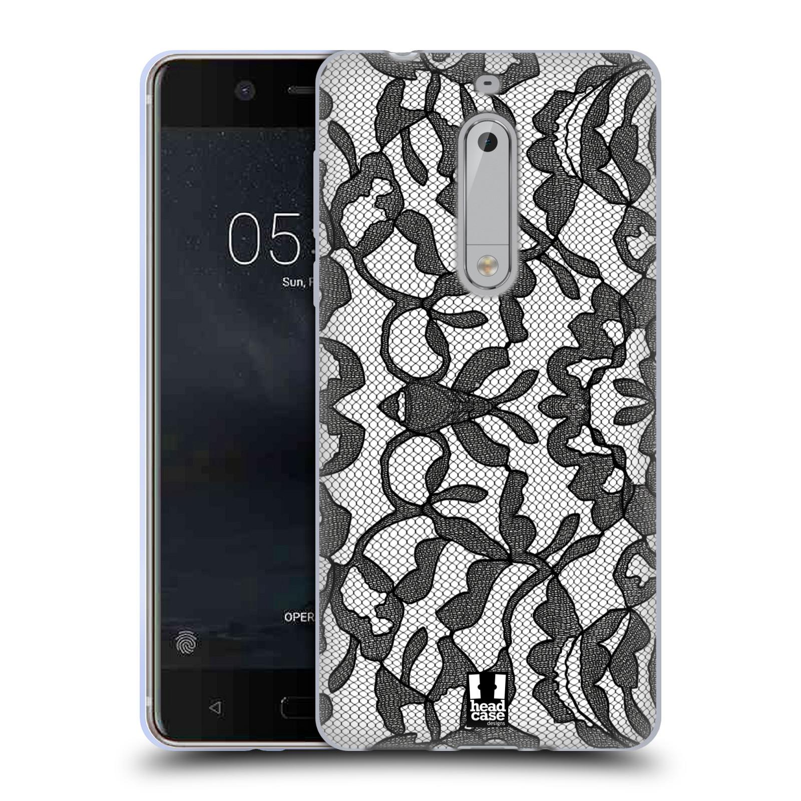 Silikonové pouzdro na mobil Nokia 5 Head Case - LEAFY KRAJKA