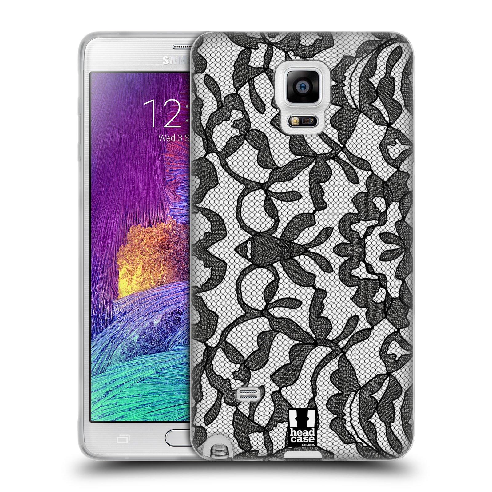Silikonové pouzdro na mobil Samsung Galaxy Note 4 HEAD CASE LEAFY KRAJKA (Silikonový kryt či obal na mobilní telefon Samsung Galaxy Note 4 SM-N910F)