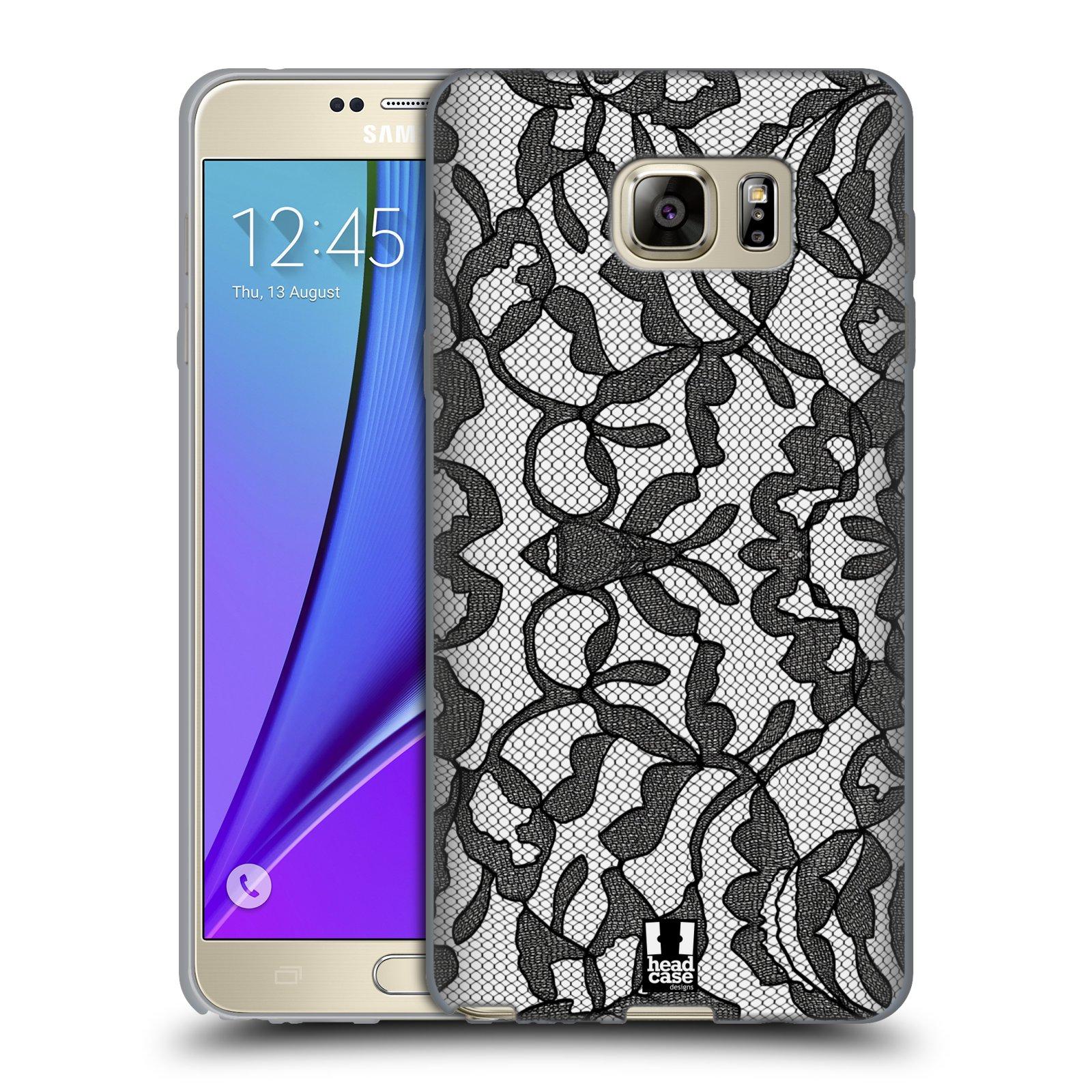 Silikonové pouzdro na mobil Samsung Galaxy Note 5 HEAD CASE LEAFY KRAJKA (Silikonový kryt či obal na mobilní telefon Samsung Galaxy Note 5 SM-N920)