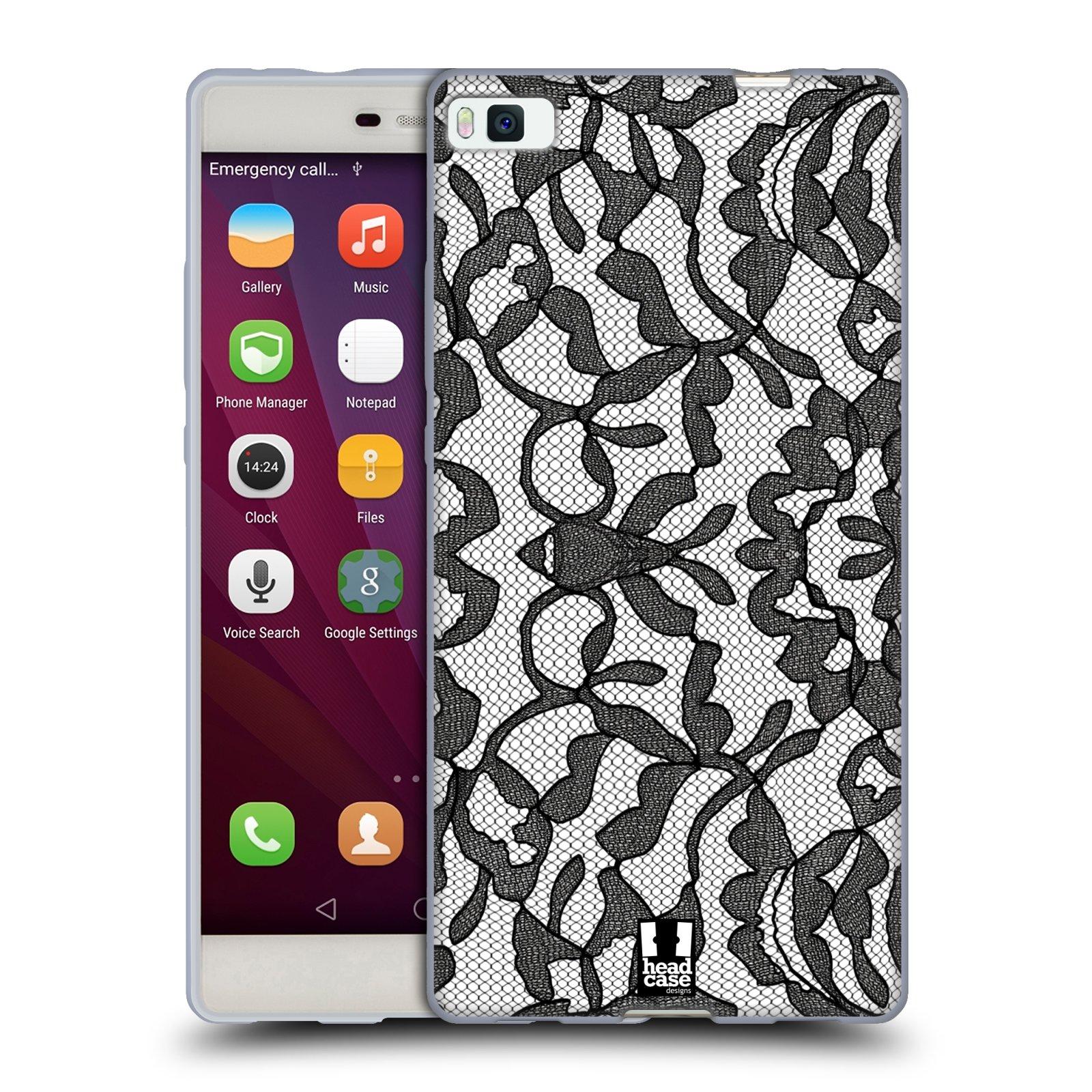 Silikonové pouzdro na mobil Huawei P8 HEAD CASE LEAFY KRAJKA (Silikonový kryt či obal na mobilní telefon Huawei Ascend P8)
