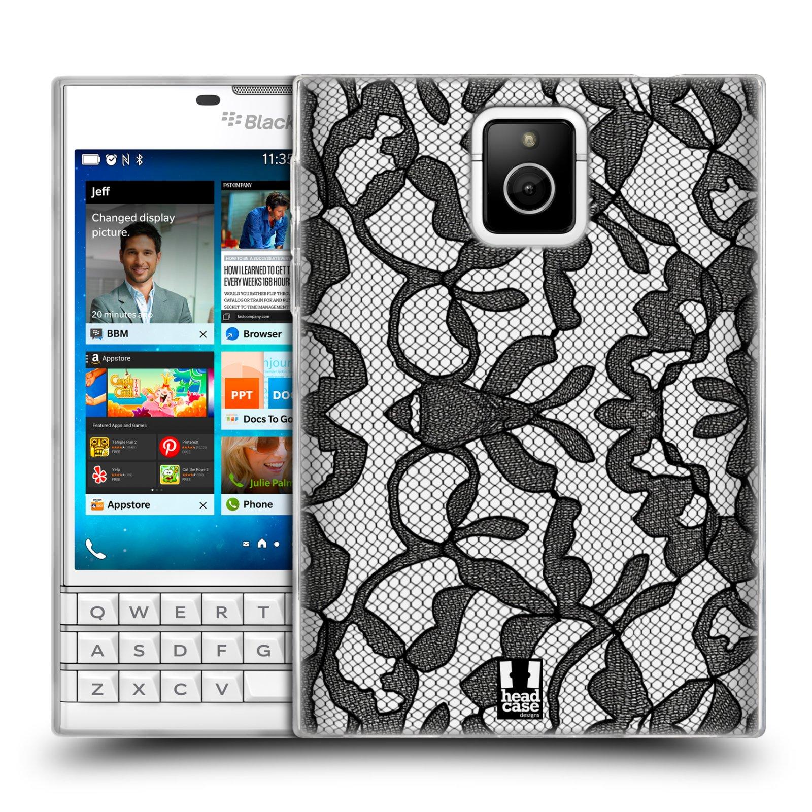 Silikonové pouzdro na mobil Blackberry PASSPORT HEAD CASE LEAFY KRAJKA (Silikonový kryt či obal na mobilní telefon Blackberry PASSPORT)