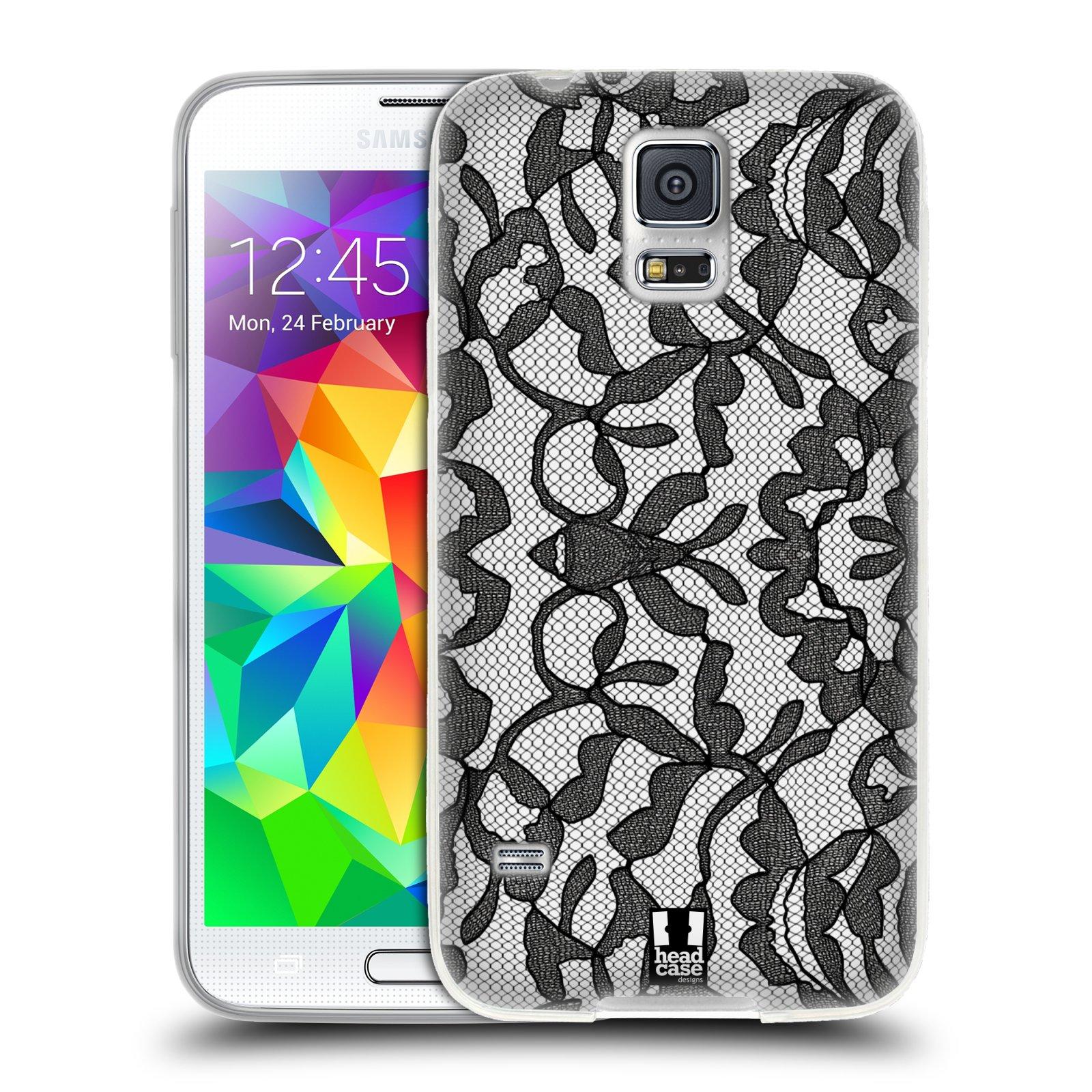 Silikonové pouzdro na mobil Samsung Galaxy S5 HEAD CASE LEAFY KRAJKA (Silikonový kryt či obal na mobilní telefon Samsung Galaxy S5 SM-G900F)