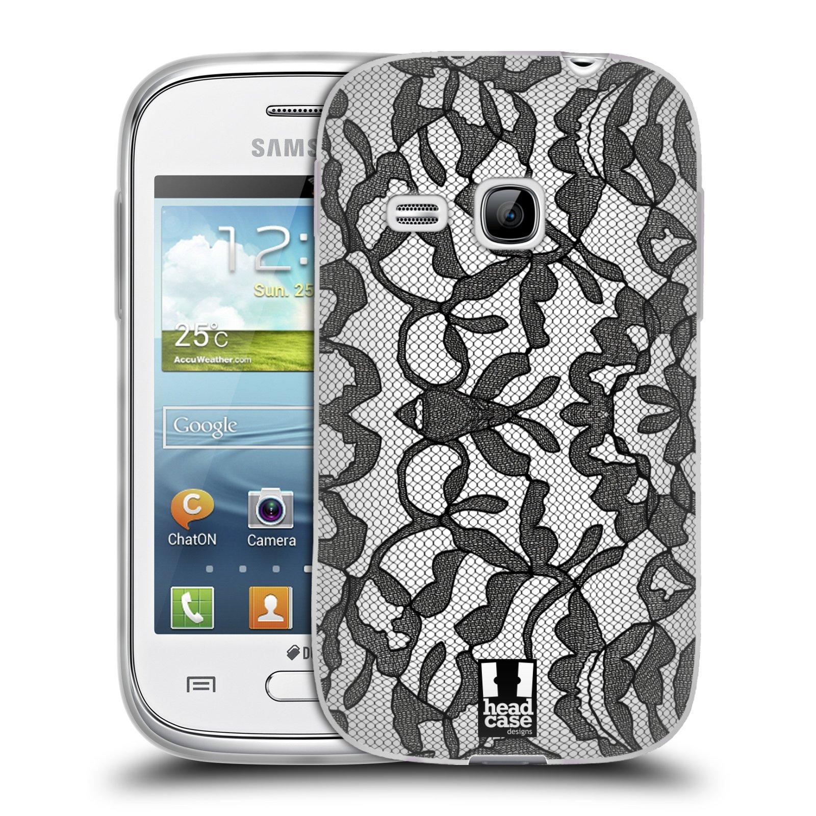 Silikonové pouzdro na mobil Samsung Galaxy Young HEAD CASE LEAFY KRAJKA (Silikonový kryt či obal na mobilní telefon Samsung Galaxy Young GT-S6310)