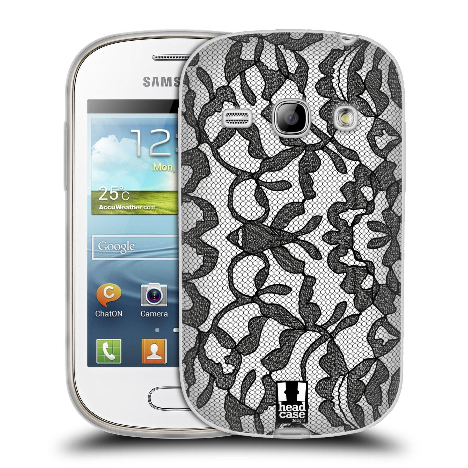 Silikonové pouzdro na mobil Samsung Galaxy Fame HEAD CASE LEAFY KRAJKA (Silikonový kryt či obal na mobilní telefon Samsung Galaxy Fame GT-S6810)