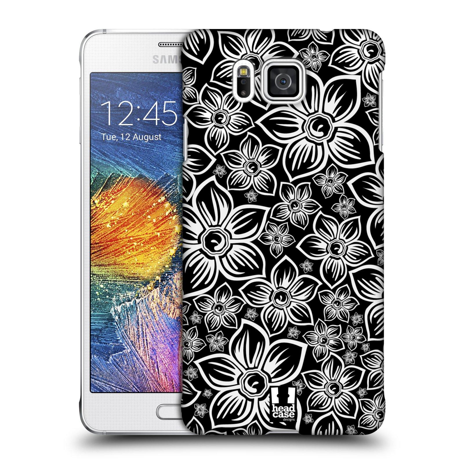 Plastové pouzdro na mobil Samsung Galaxy Alpha HEAD CASE FLORAL DAISY