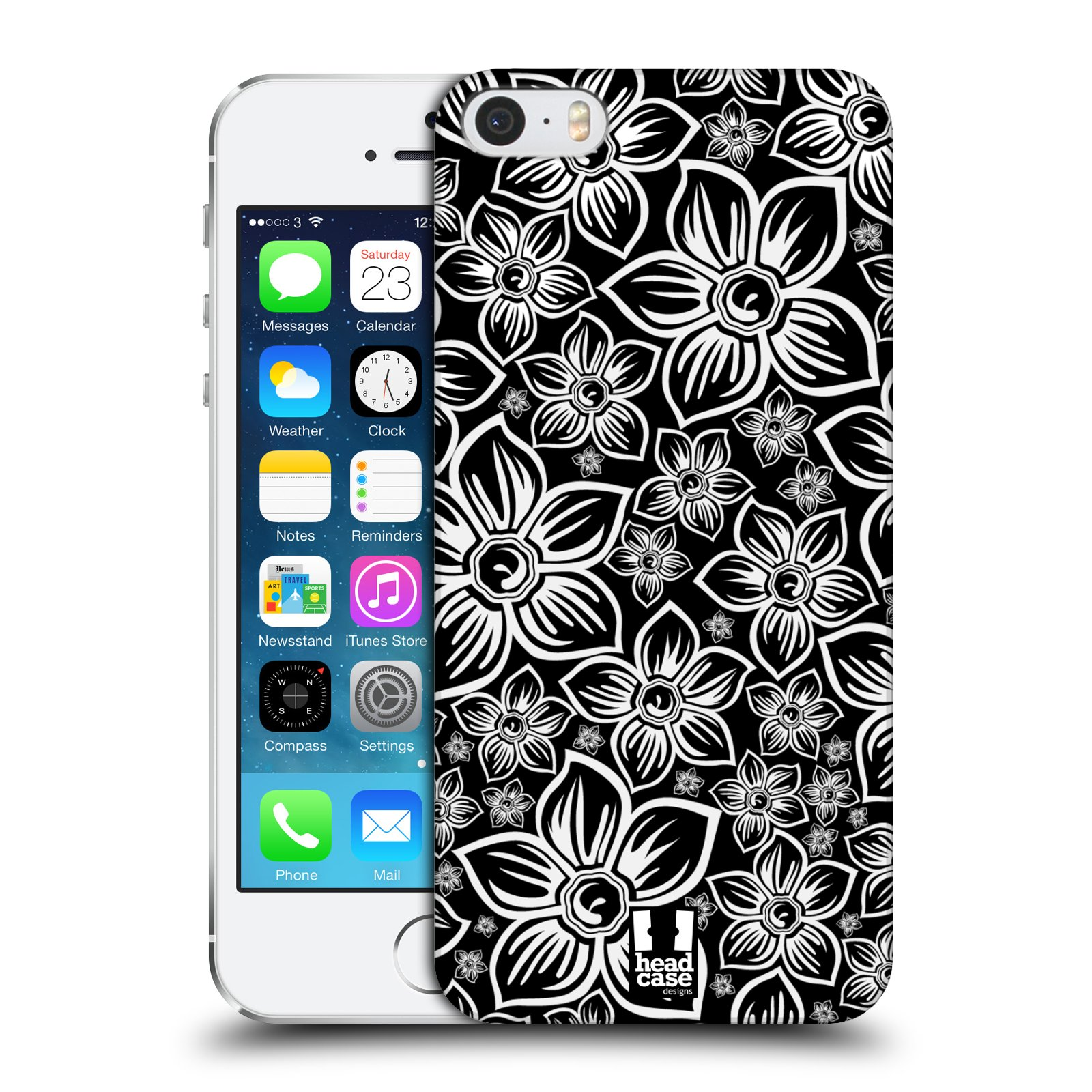 Plastové pouzdro na mobil Apple iPhone SE, 5 a 5S HEAD CASE FLORAL DAISY