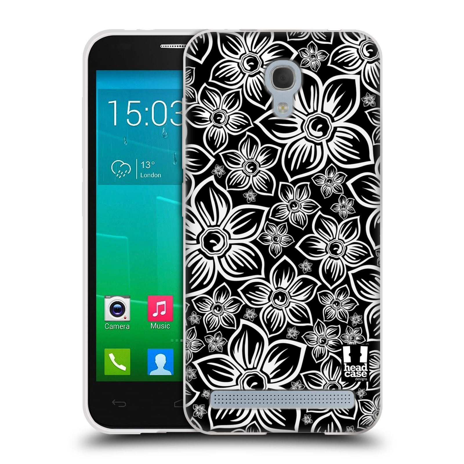 Silikonové pouzdro na mobil Alcatel One Touch Idol 2 Mini S 6036Y HEAD CASE FLORAL DAISY