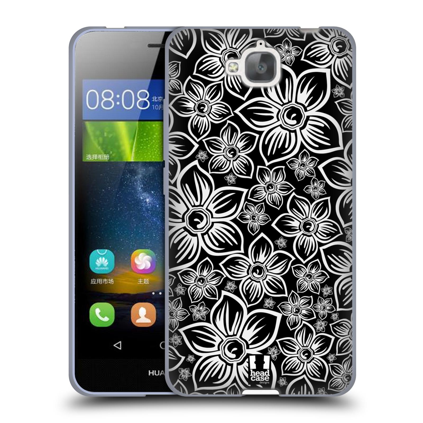 Silikonové pouzdro na mobil Huawei Y6 Pro Dual Sim HEAD CASE FLORAL DAISY