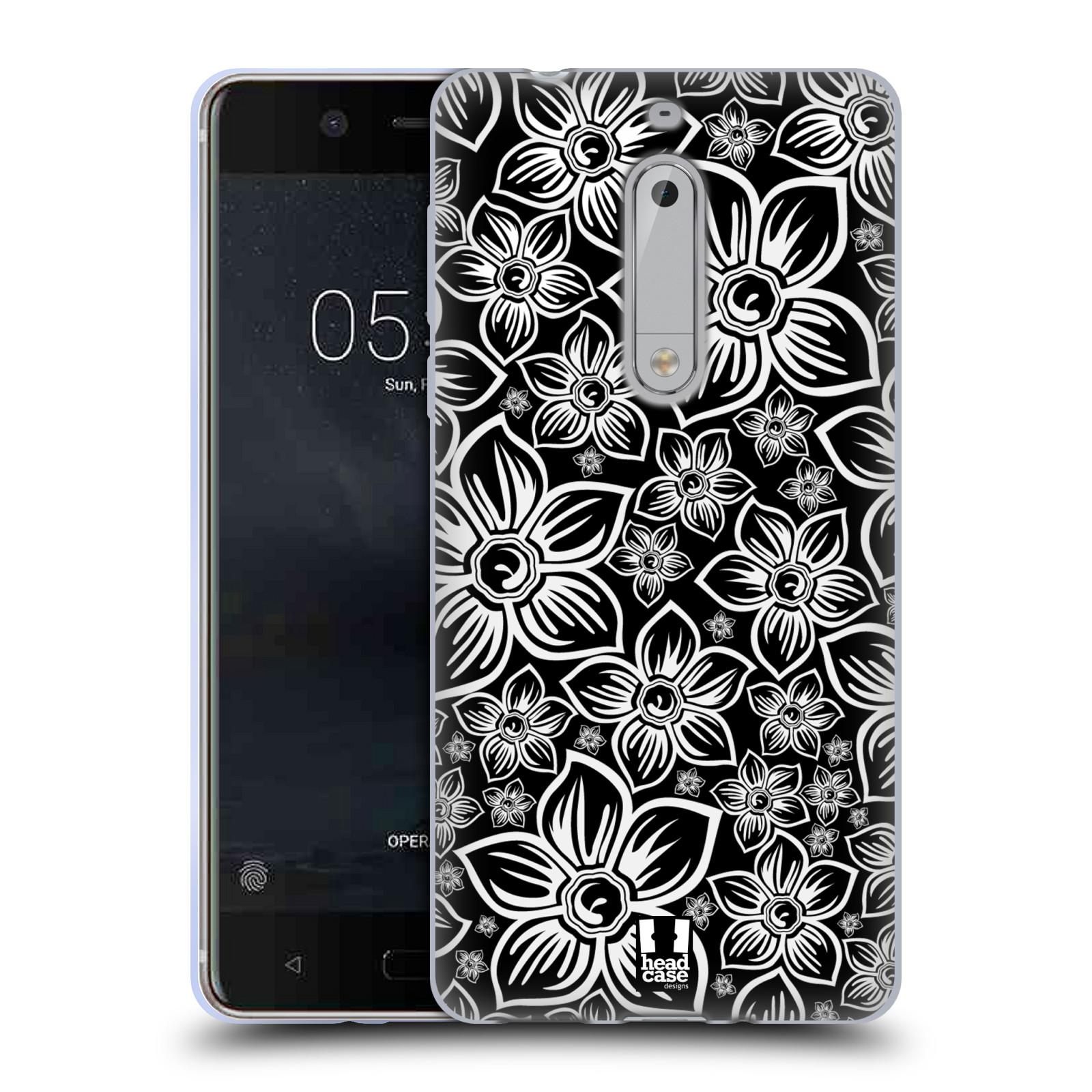 Silikonové pouzdro na mobil Nokia 5 Head Case - FLORAL DAISY