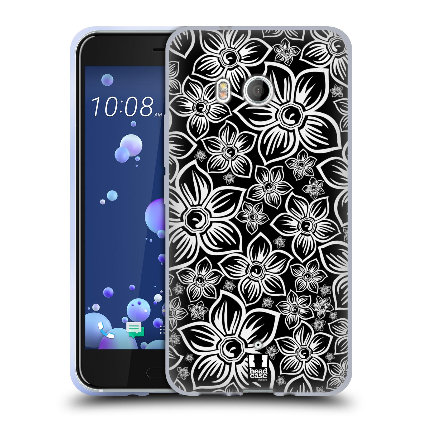 Silikonové pouzdro na mobil HTC U11 - Head Case - FLORAL DAISY