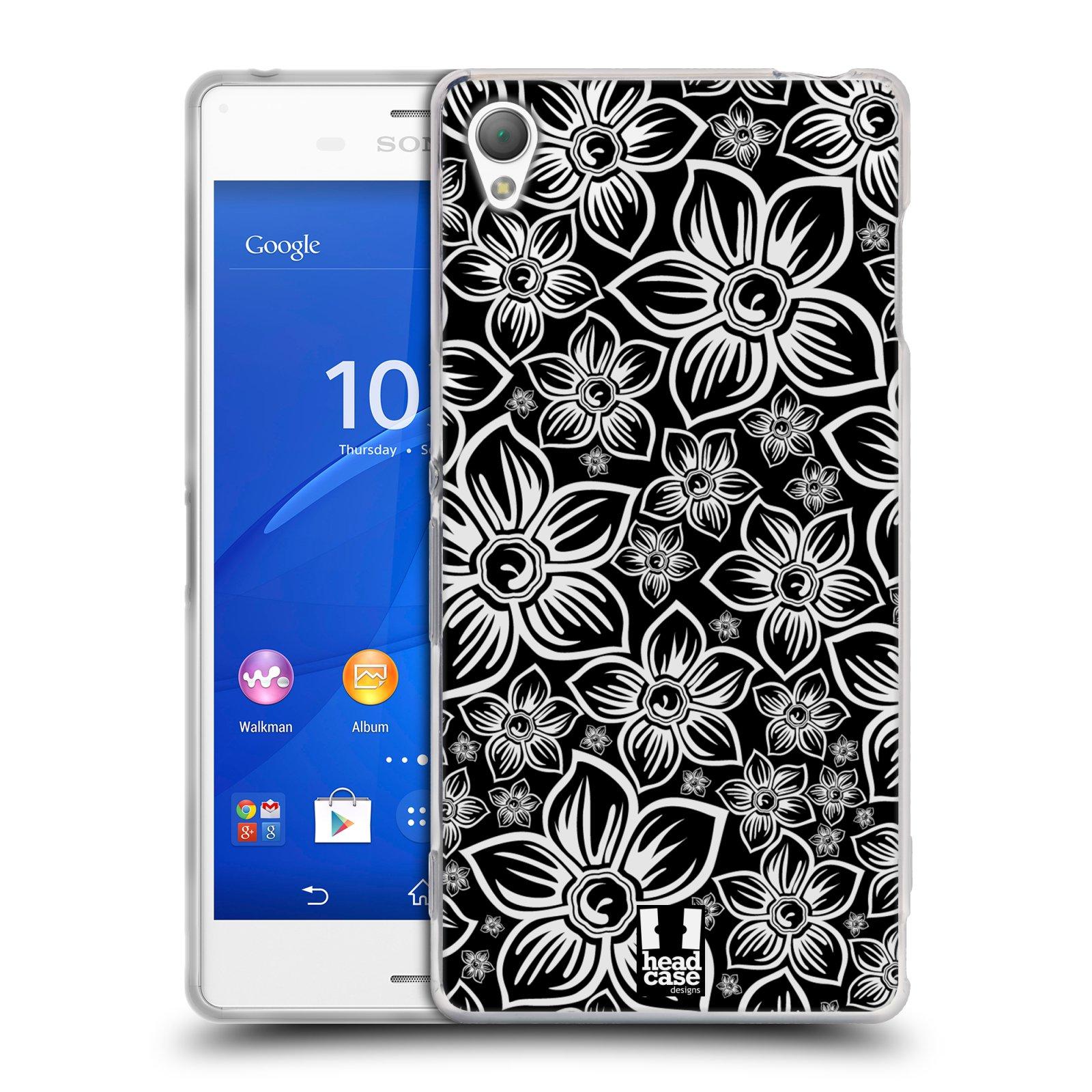 Silikonové pouzdro na mobil Sony Xperia Z3 D6603 HEAD CASE FLORAL DAISY