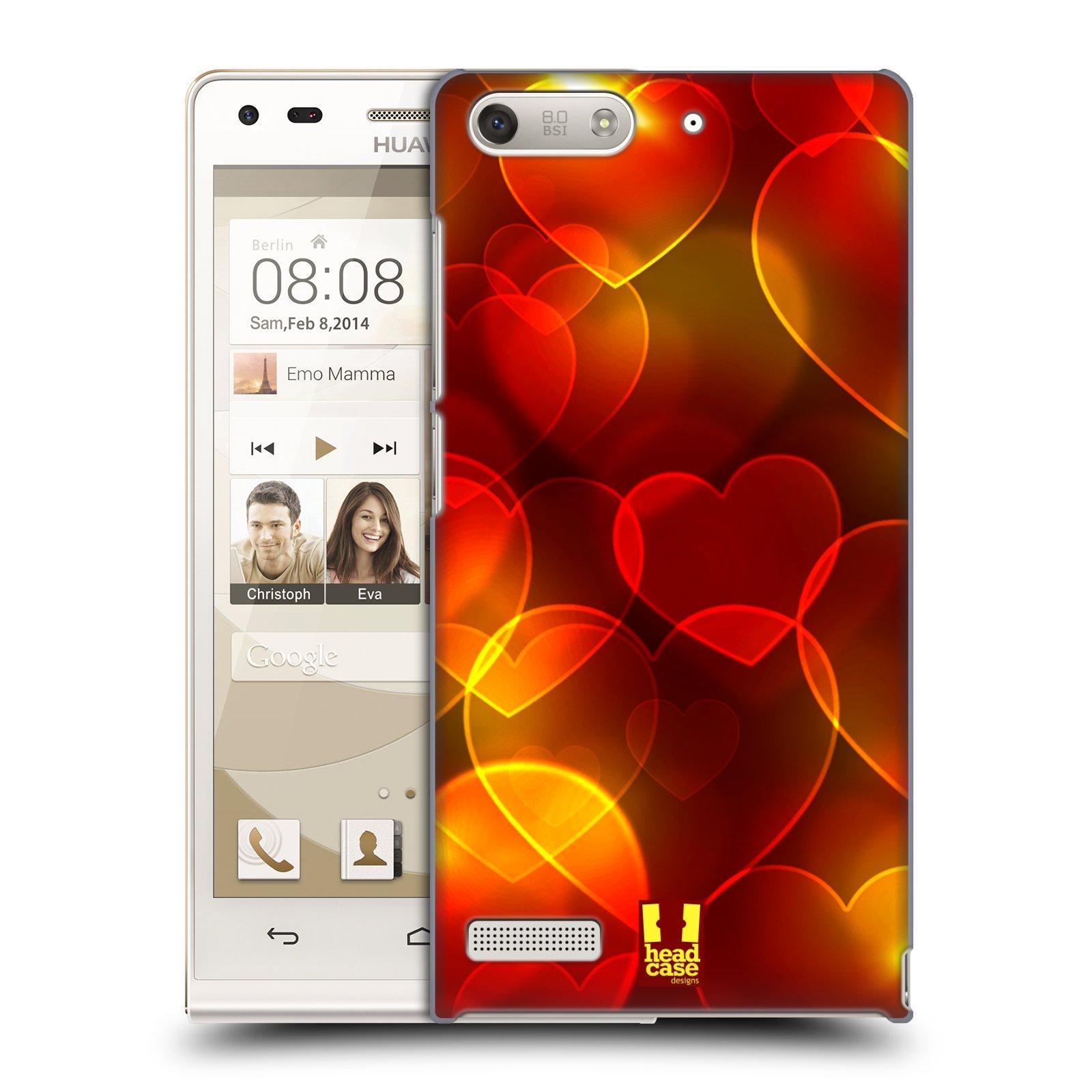 Plastové pouzdro na mobil Huawei Ascend G6 HEAD CASE SRDÍČKA BOKEH (Kryt či obal na mobilní telefon Huawei Ascend G6 bez LTE)