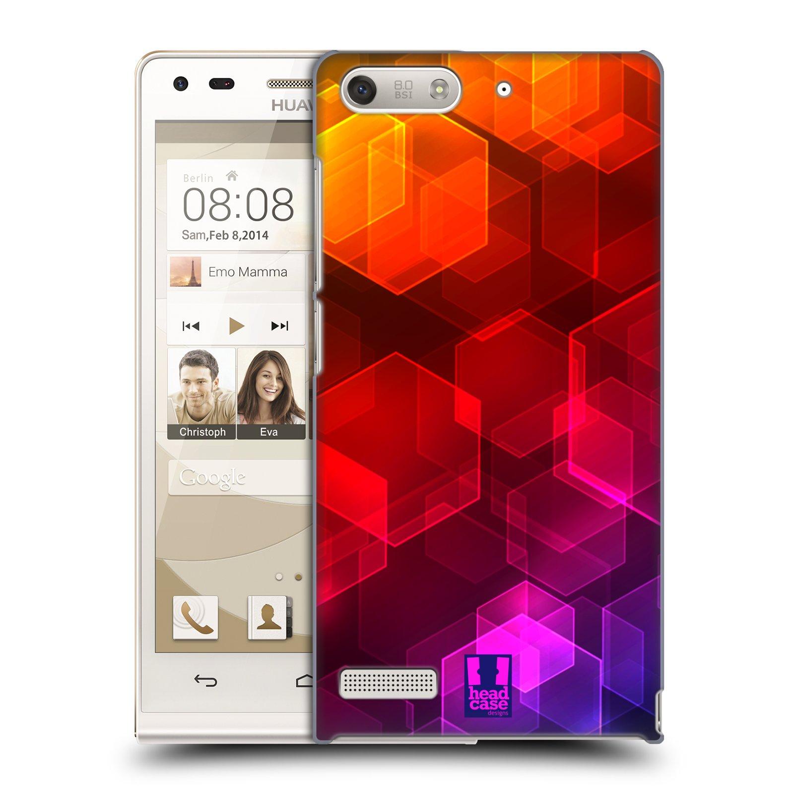 Plastové pouzdro na mobil Huawei Ascend G6 HEAD CASE HEXAHGON BOKEH (Kryt či obal na mobilní telefon Huawei Ascend G6 bez LTE)