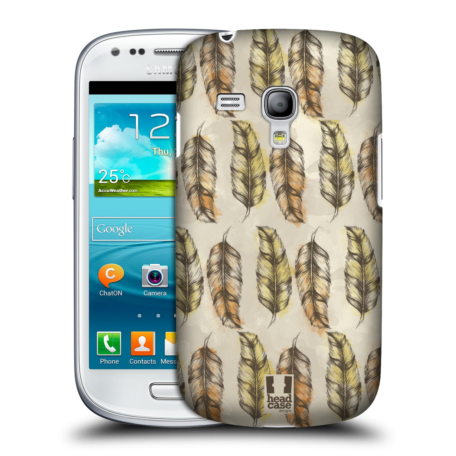 Silikonové pouzdro na mobil Samsung Galaxy S III Mini VE - Head Case - Bohémská pírka (Plastový kryt či obal na mobilní telefon s motivem Bohemian Soul pro Samsung Galaxy S3 Mini VE GT-i8200)