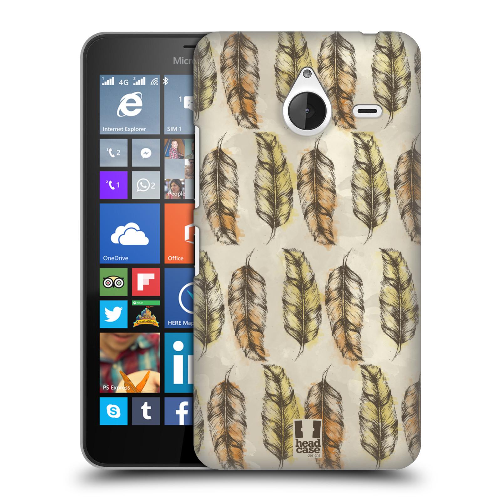 Plastové pouzdro na mobil Microsoft Lumia 640 XL - Head Case - Bohémská pírka (Plastový kryt či obal na mobilní telefon s motivem Bohemian Soul pro Microsoft Lumia 640 XL)
