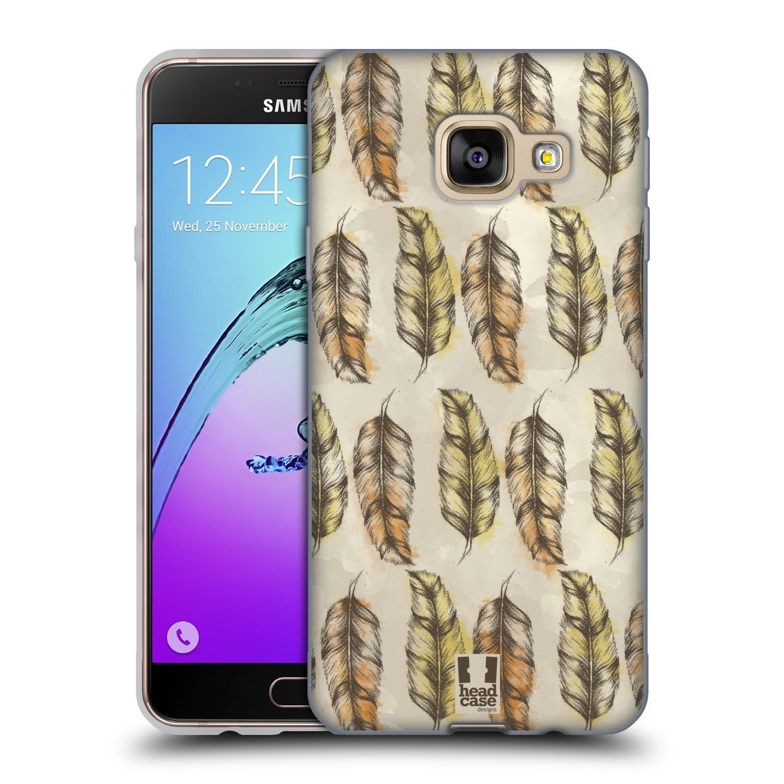 Silikonové pouzdro na mobil Samsung Galaxy A3 (2016) - Head Case - Bohémská pírka (Silikonový kryt či obal na mobilní telefon s motivem Bohemian Soul pro Samsung Galaxy A3 (2016) SM-A310F)