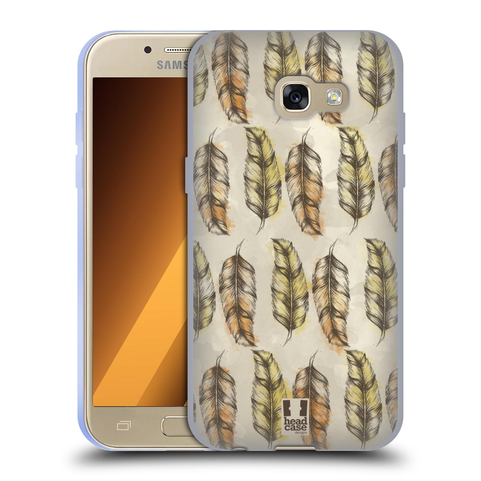 Silikonové pouzdro na mobil Samsung Galaxy A3 (2017) - Head Case - Bohémská pírka (Silikonový kryt či obal na mobilní telefon s motivem Bohemian Soul pro Samsung Galaxy A3 2017 SM-A320)