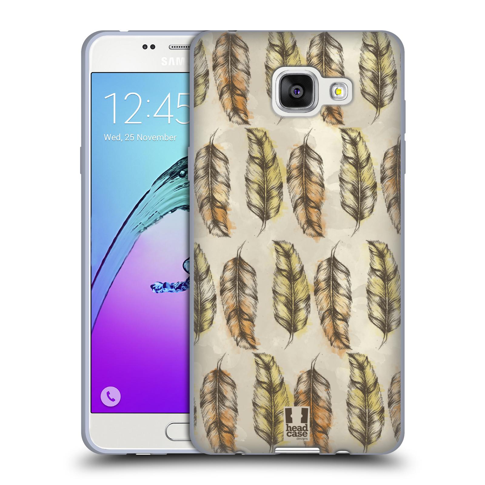 Silikonové pouzdro na mobil Samsung Galaxy A5 (2016) - Head Case - Bohémská pírka (Silikonový kryt či obal na mobilní telefon s motivem Bohemian Soul pro Samsung Galaxy A5 (2016) SM-A510F)