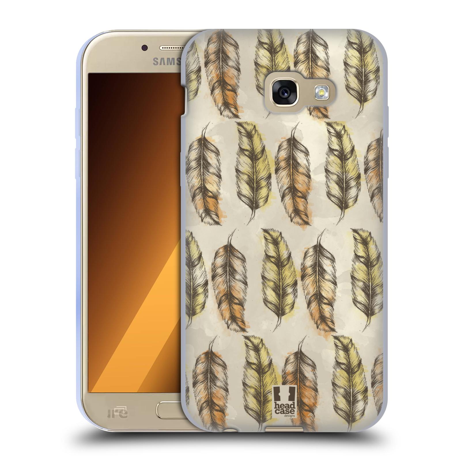 Silikonové pouzdro na mobil Samsung Galaxy A5 (2017) - Head Case - Bohémská pírka (Silikonový kryt či obal na mobilní telefon s motivem Bohemian Soul pro Samsung Galaxy A5 2017 SM-A520)