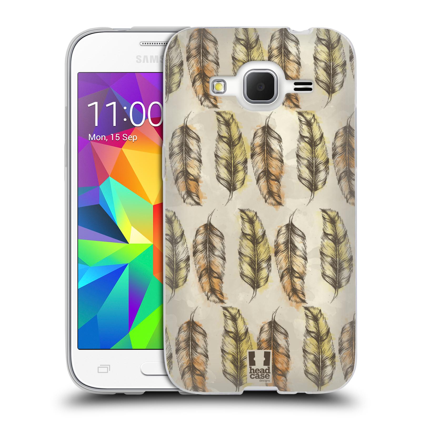 Silikonové pouzdro na mobil Samsung Galaxy Core Prime VE - Head Case - Bohémská pírka (Silikonový kryt či obal na mobilní telefon s motivem Bohemian Soul pro Samsung Galaxy Core Prime LTE VE SM-G361F)