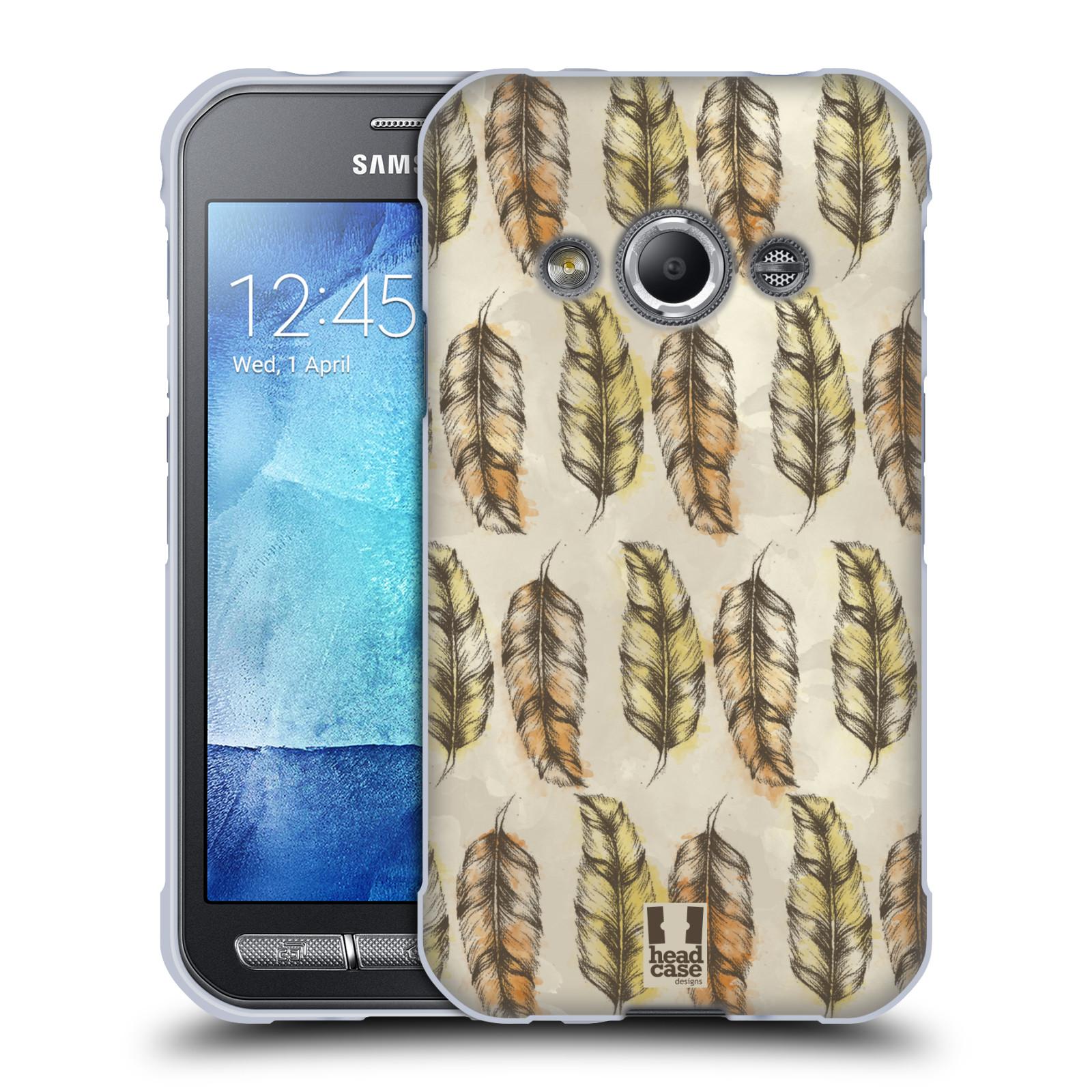 Silikonové pouzdro na mobil Samsung Galaxy Xcover 3 - Head Case - Bohémská pírka (Silikonový kryt či obal na mobilní telefon s motivem Bohemian Soul pro Samsung Galaxy Xcover 3 SM-G388F)