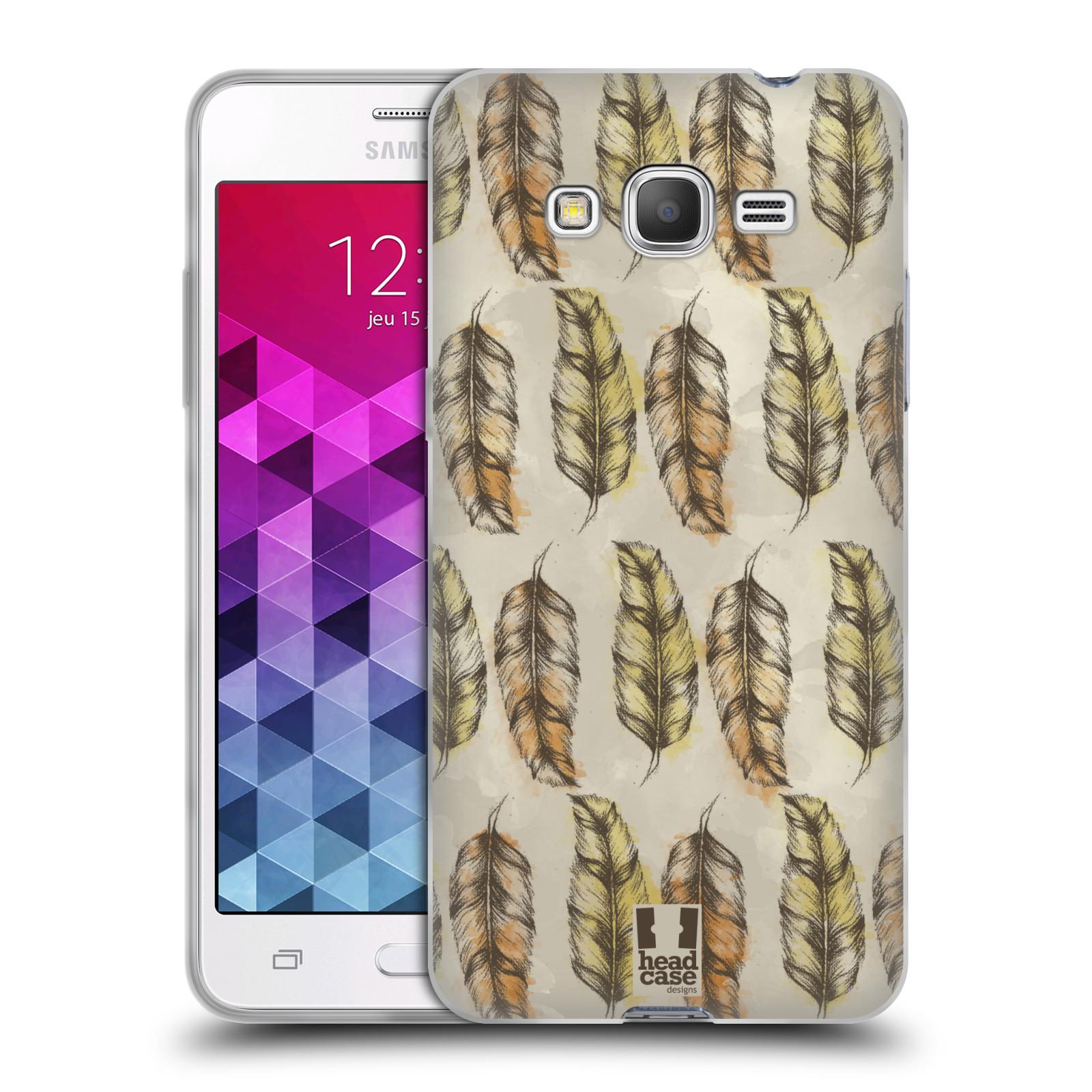 Silikonové pouzdro na mobil Samsung Galaxy Grand Prime VE - Head Case - Bohémská pírka (Silikonový kryt či obal na mobilní telefon s motivem Bohemian Soul pro Samsung Galaxy Grand Prime VE SM-G531F)