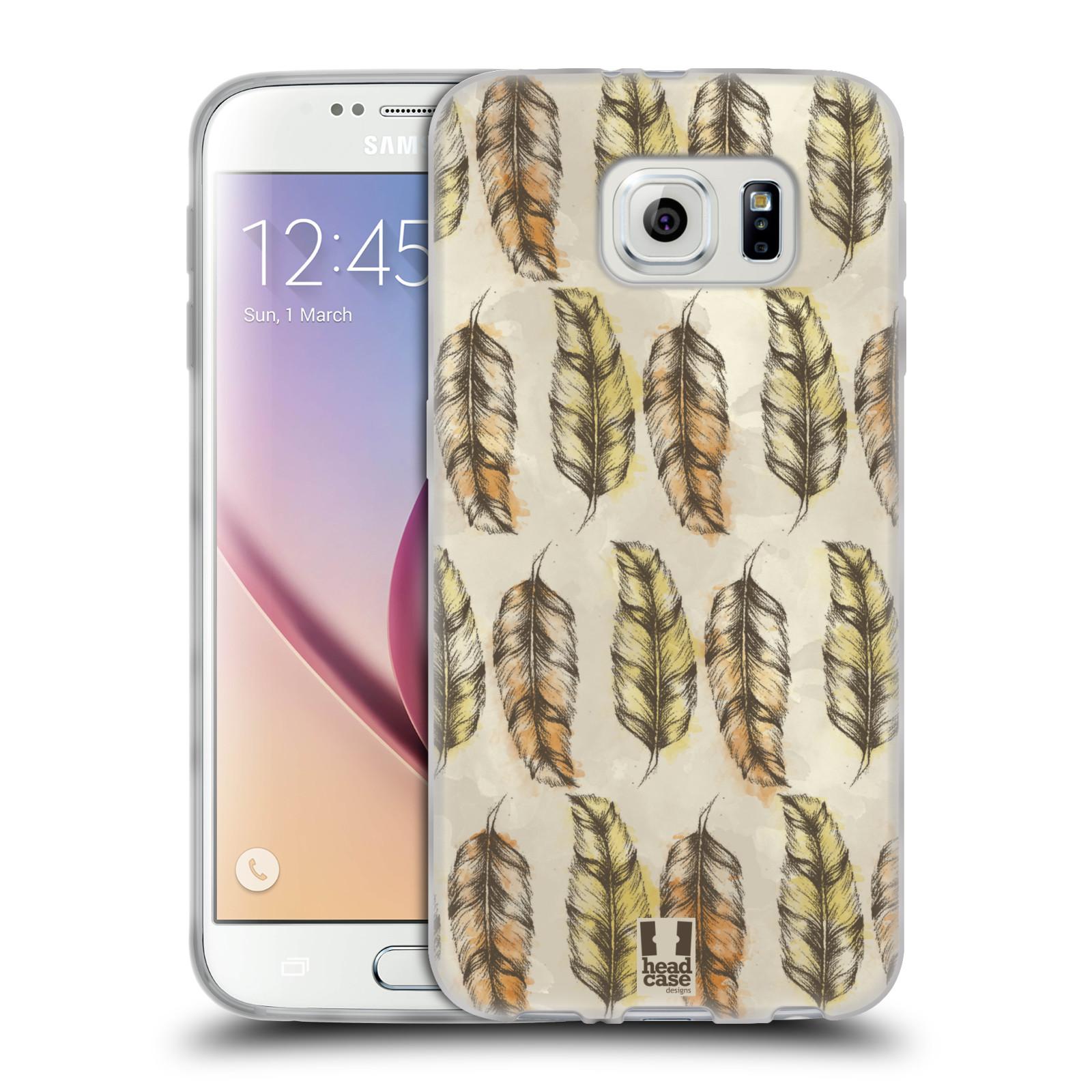 Silikonové pouzdro na mobil Samsung Galaxy S6 - Head Case - Bohémská pírka (Silikonový kryt či obal na mobilní telefon s motivem Bohemian Soul pro Samsung Galaxy S6 SM-G920F)