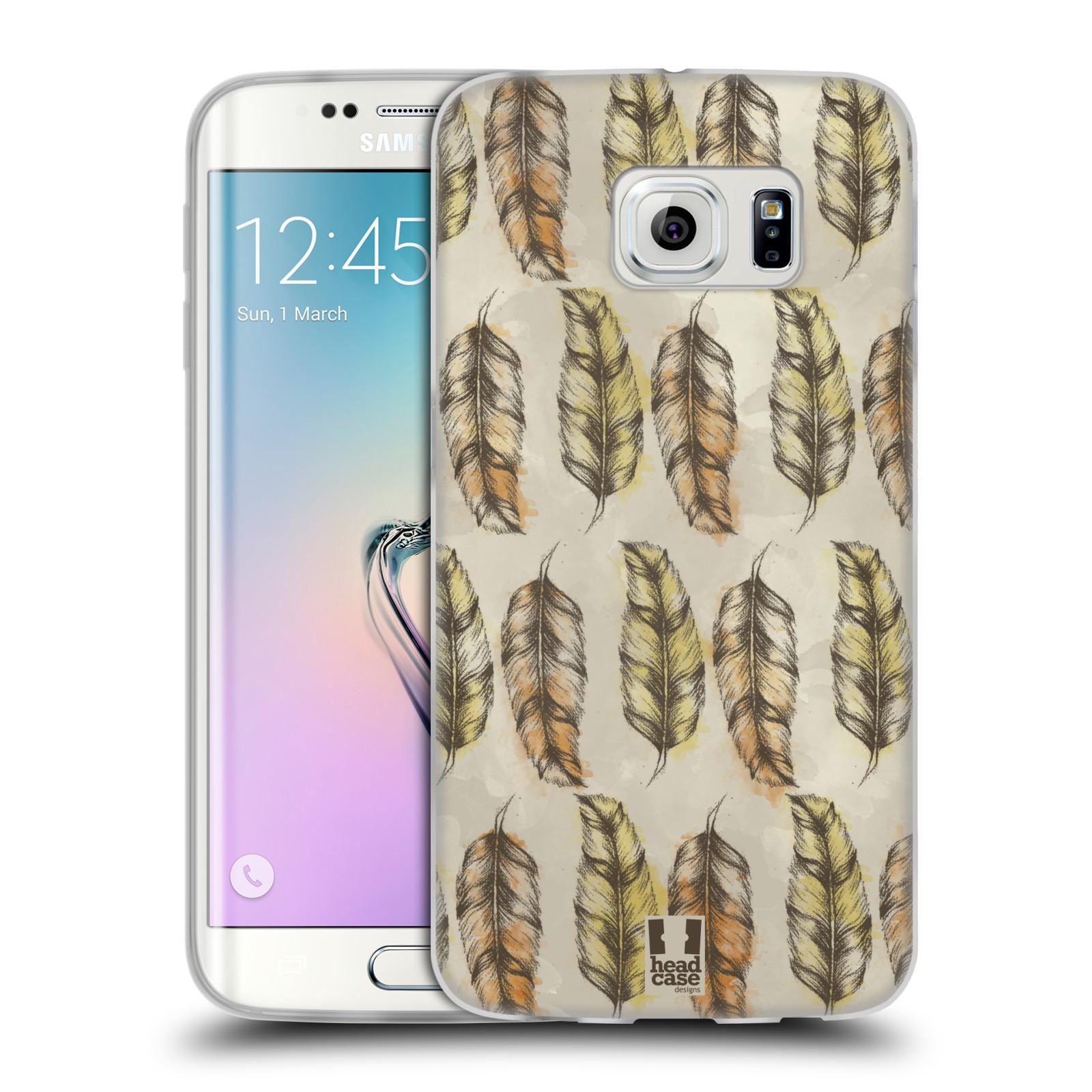 Silikonové pouzdro na mobil Samsung Galaxy S6 Edge - Head Case - Bohémská pírka (Silikonový kryt či obal na mobilní telefon s motivem Bohemian Soul pro Samsung Galaxy S6 Edge SM-G925F)
