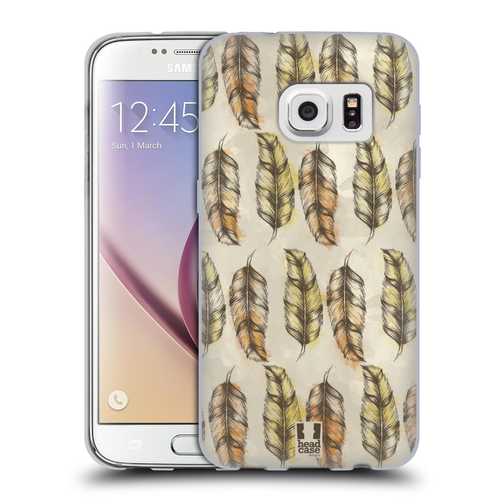 Silikonové pouzdro na mobil Samsung Galaxy S7 - Head Case - Bohémská pírka (Silikonový kryt či obal na mobilní telefon s motivem Bohemian Soul pro Samsung Galaxy S7 SM-G930F)