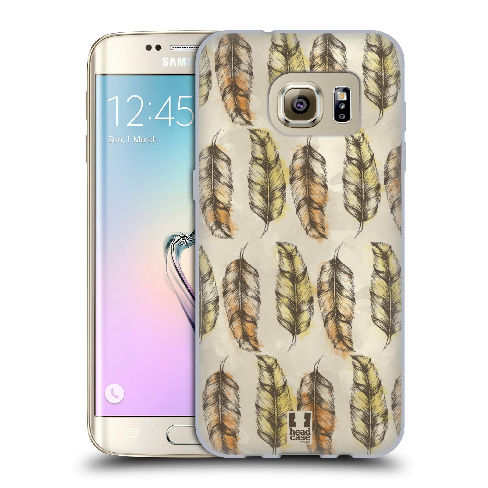 Silikonové pouzdro na mobil Samsung Galaxy S7 Edge - Head Case - Bohémská pírka (Silikonový kryt či obal na mobilní telefon s motivem Bohemian Soul pro Samsung Galaxy S7 Edge SM-G935F)